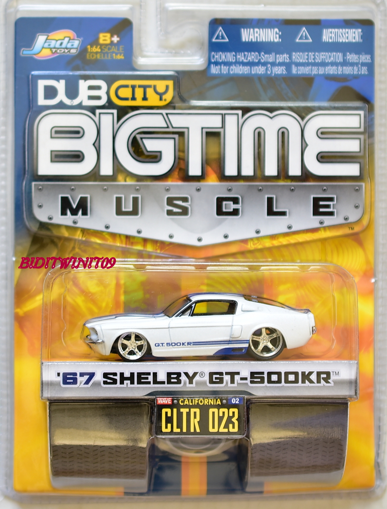 JADA TOYS DUB CITY BIGTIME MUSCLE '67 SHELBY GT-500KR CLTR 023 WHITE