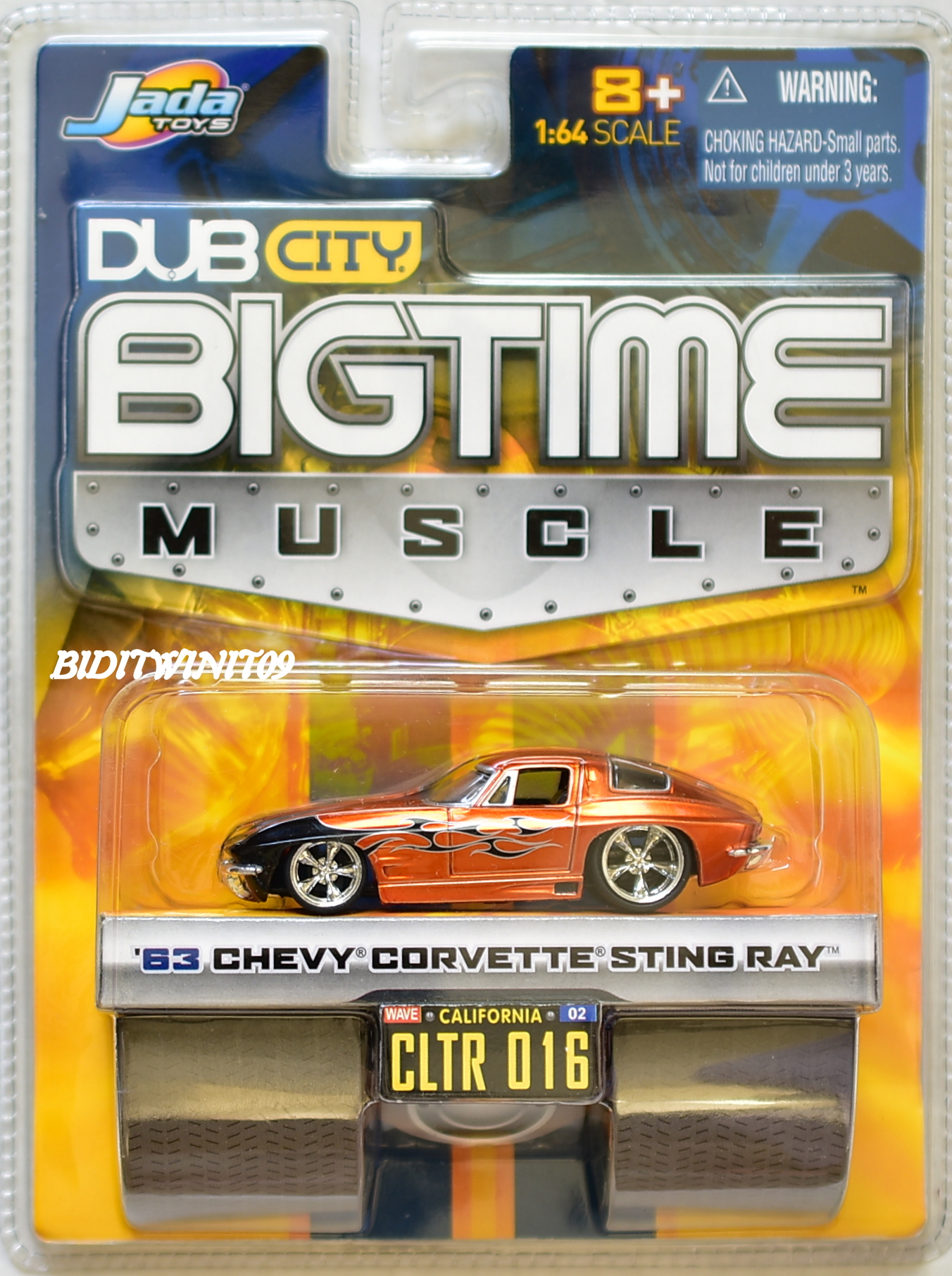 JADA TOYS DUB CITY BIGTIME MUSCLE '63 CHEVY CORVETTE STING RAY CLTR 016