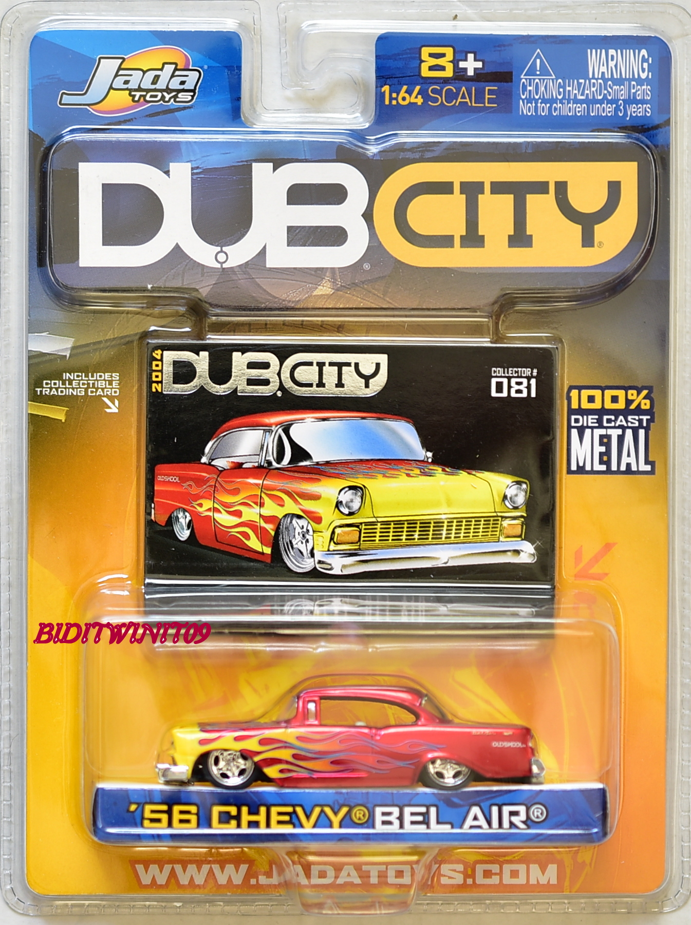 JADA TOYS 2004 DUB CITY '56 CHEVY BEL AIR #081