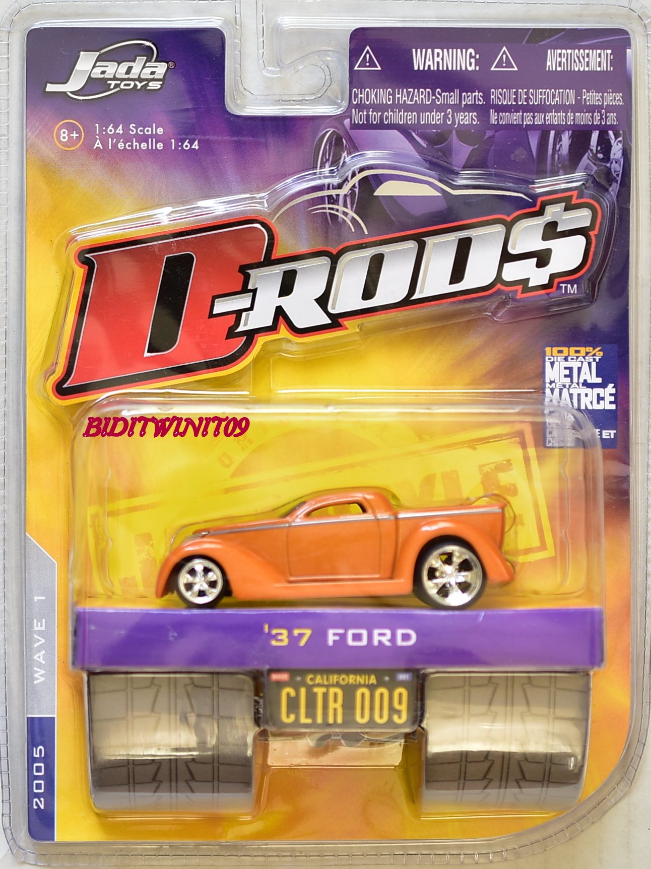 JADA TOYS 2005 WAVE 1 D-RODS '37 FORD CLTR 009