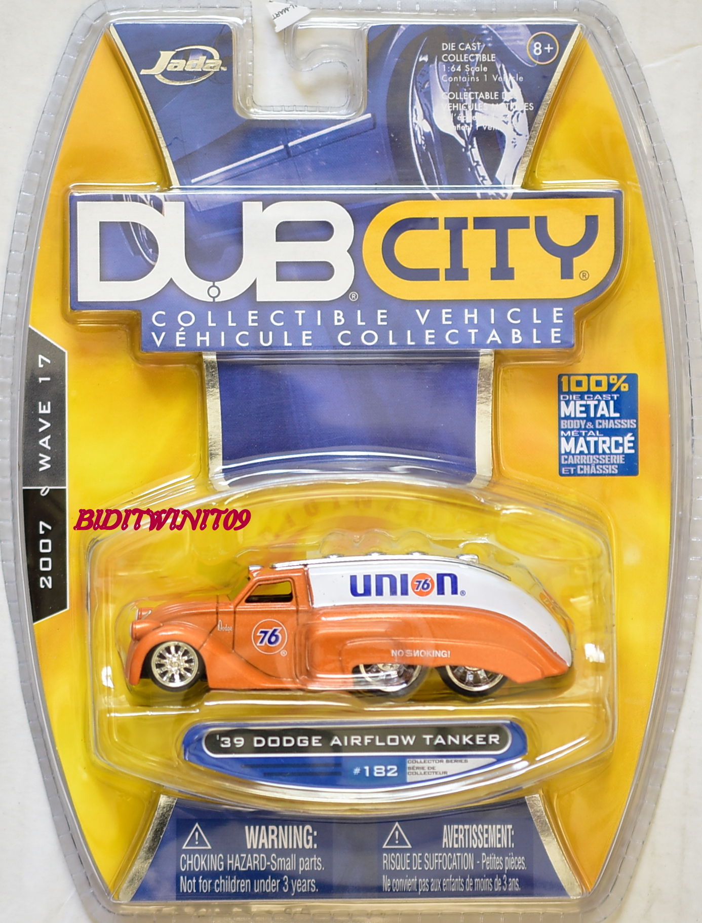 JADA TOYS 2007 WAVE 17 DUB CITY '39 DODGE AIRFLOW TANKER #182 E+