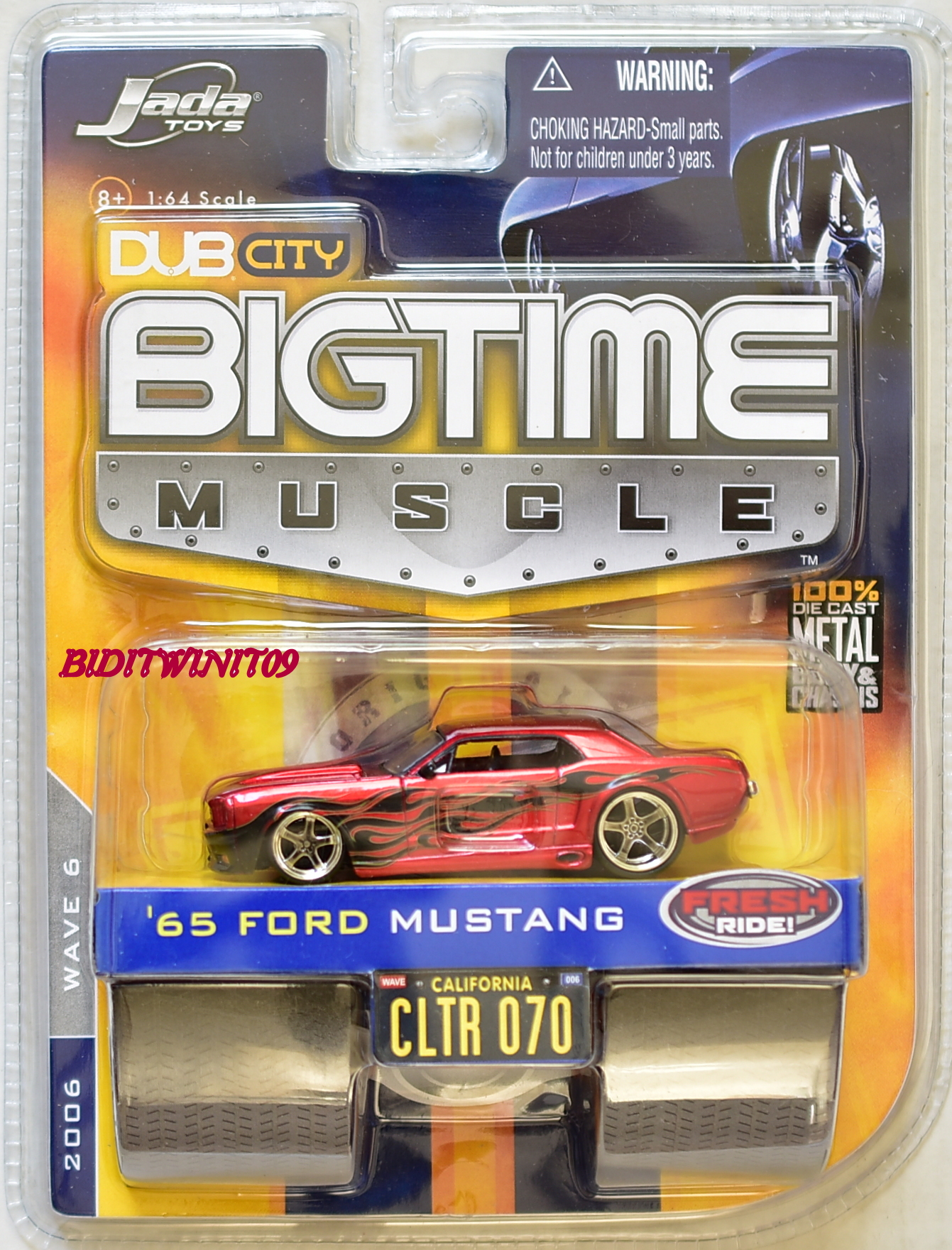JADA TOYS 2006 WAVE 6 DUB CITY BIGTIME MUSCLE '65 FORD MUSTANG CLTR 070 E+
