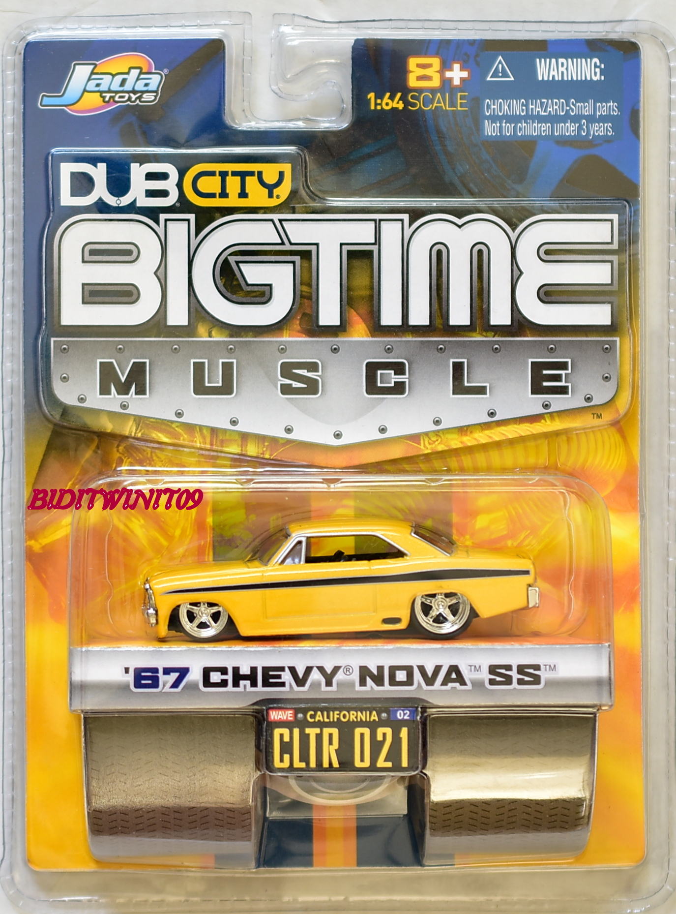 JADA TOYS DUB CITY BIGTIME MUSCLE '67 CHEVY NOVA SS CLTR 021 YELLOW
