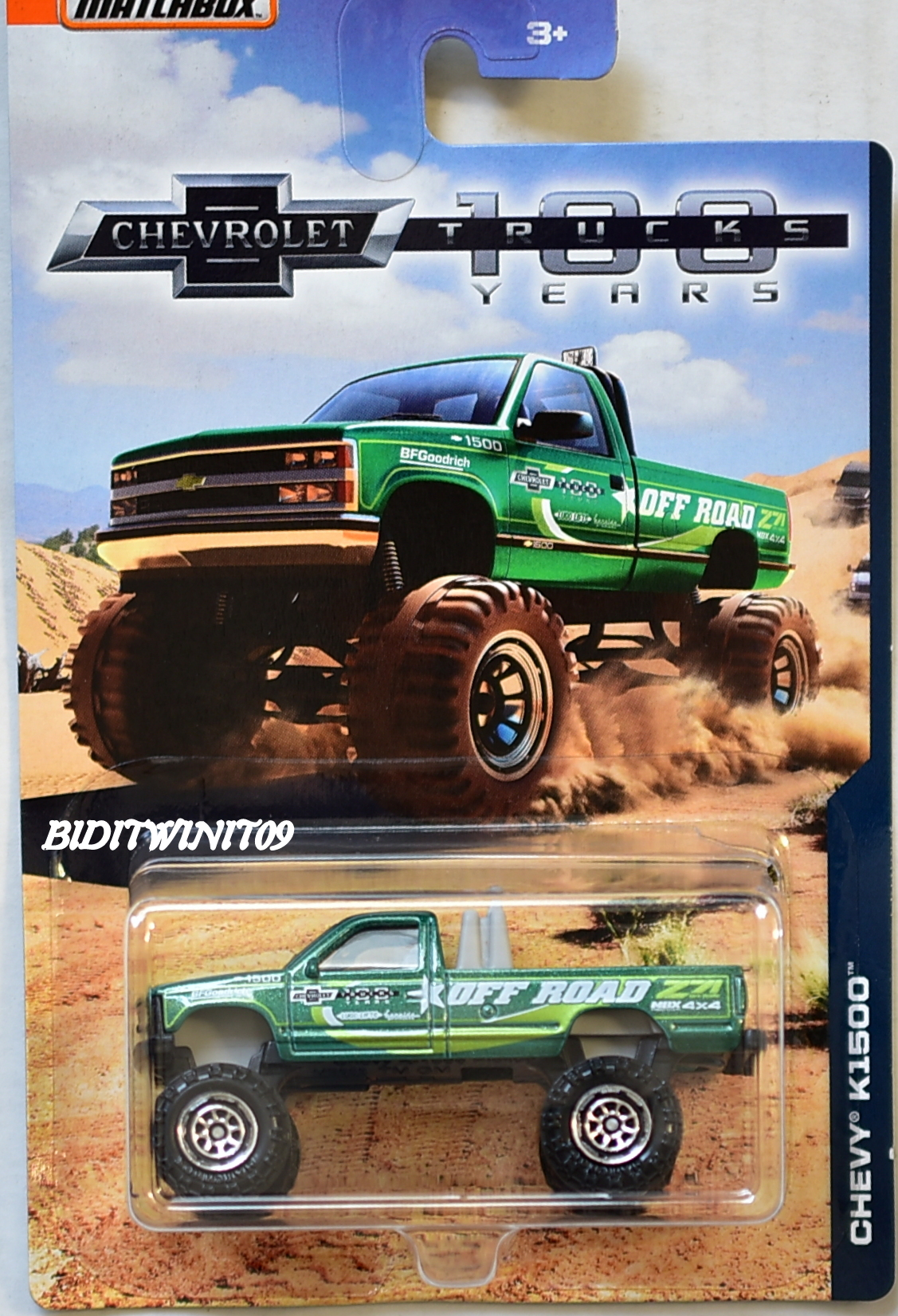 MATCHBOX 2018 100 YEARS TRUCKS CHEVY K1500 GREEN E+