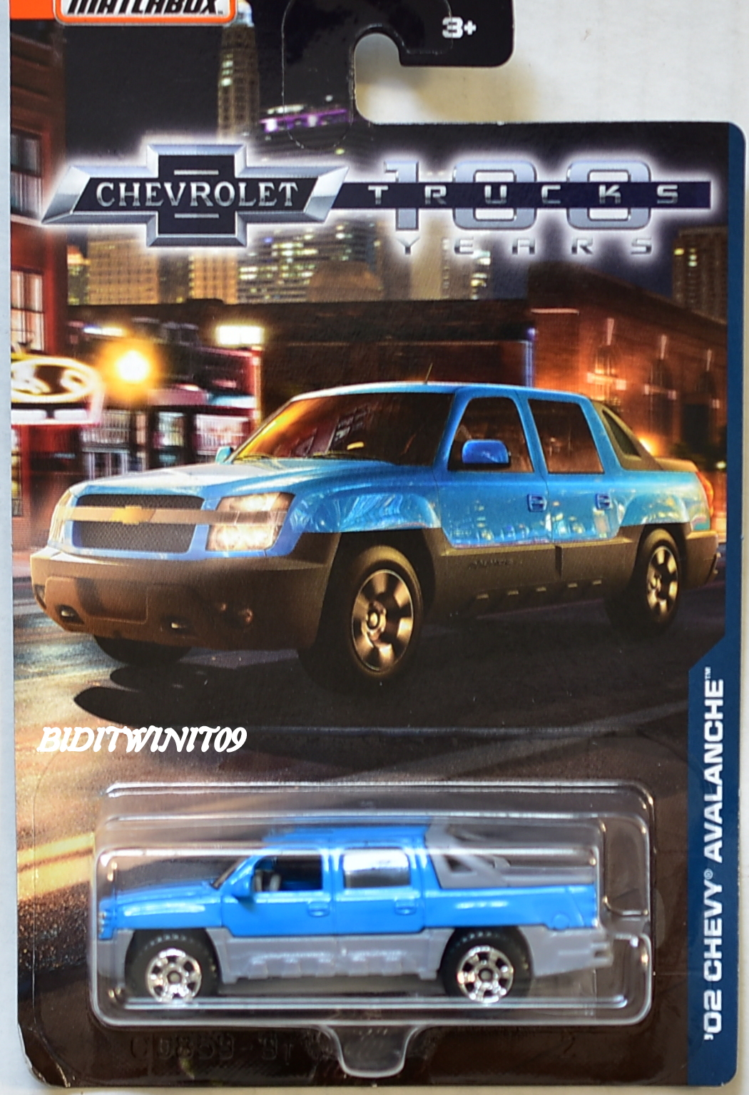 MATCHBOX 2018 100 YEARS TRUCKS '02 CHEVY AVALANCHE E+