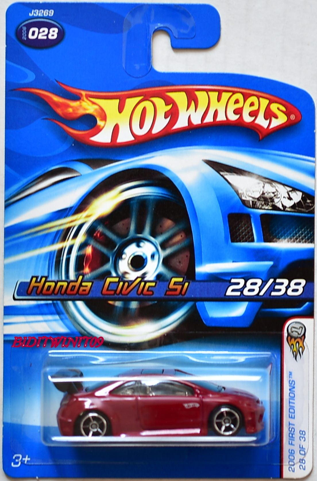 HOT WHEELS 2006 FIRST EDITONS HONDA CIVIC SI #028 RED