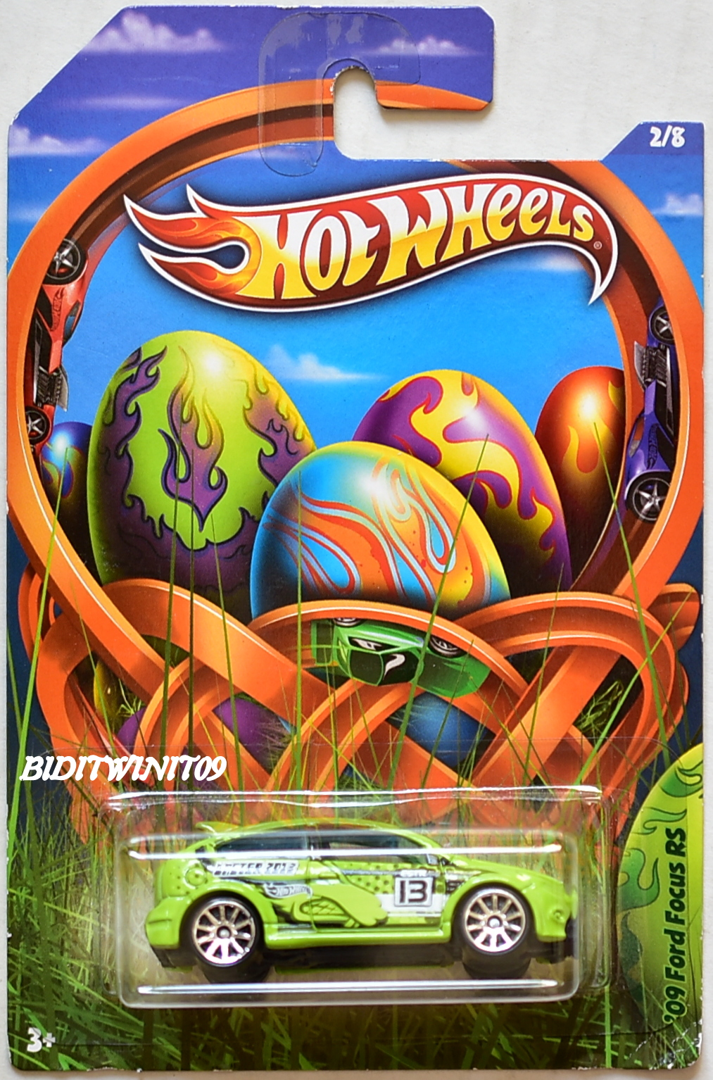 HOT WHEELS 2013 EASTER '09 FORD FOCUS RS