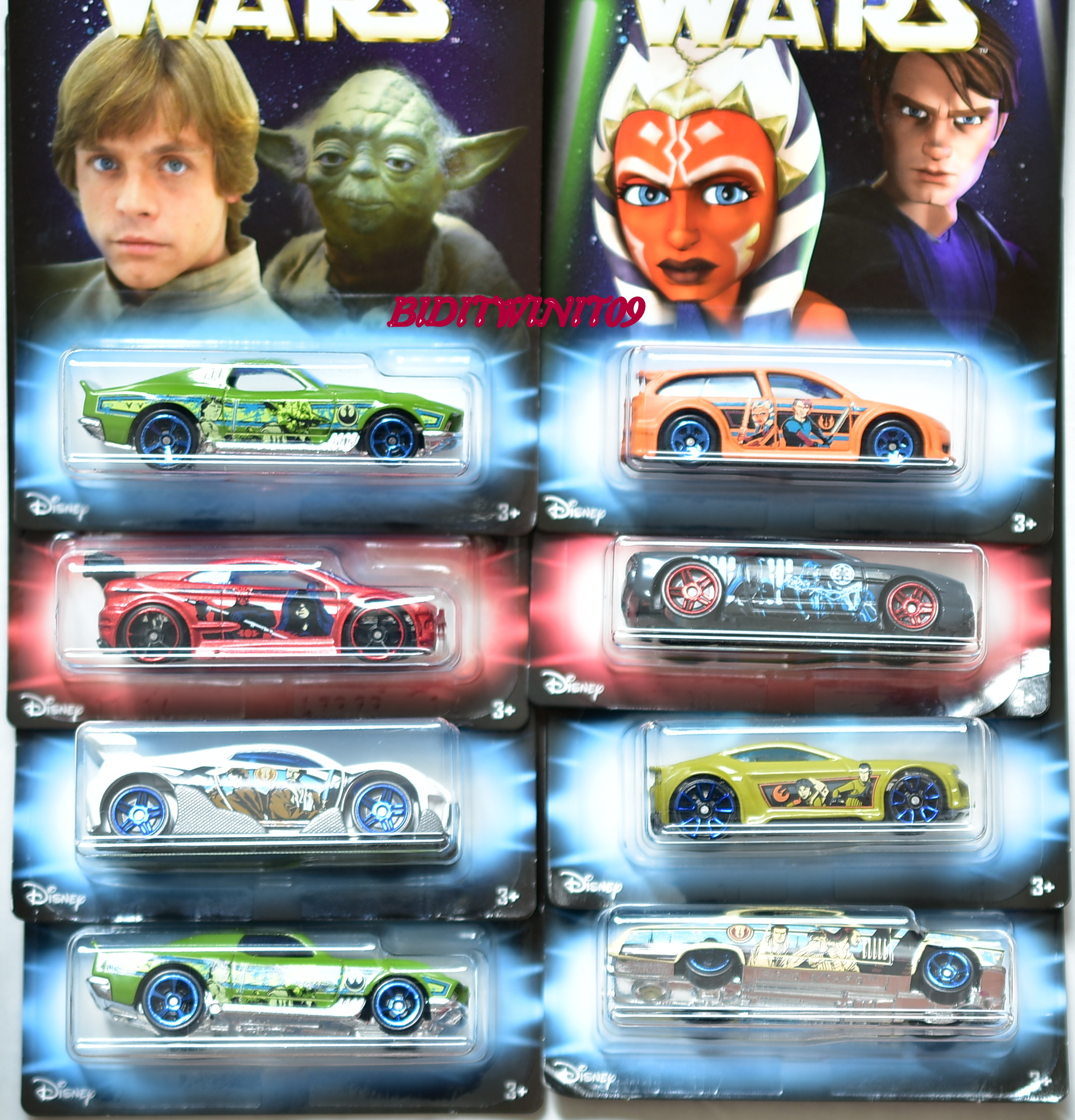 HOT WHEELS 2018 STAR WARS COMPLETE SET OF 8 FISH'D & CHIPS - ASPHALT ASSAULT