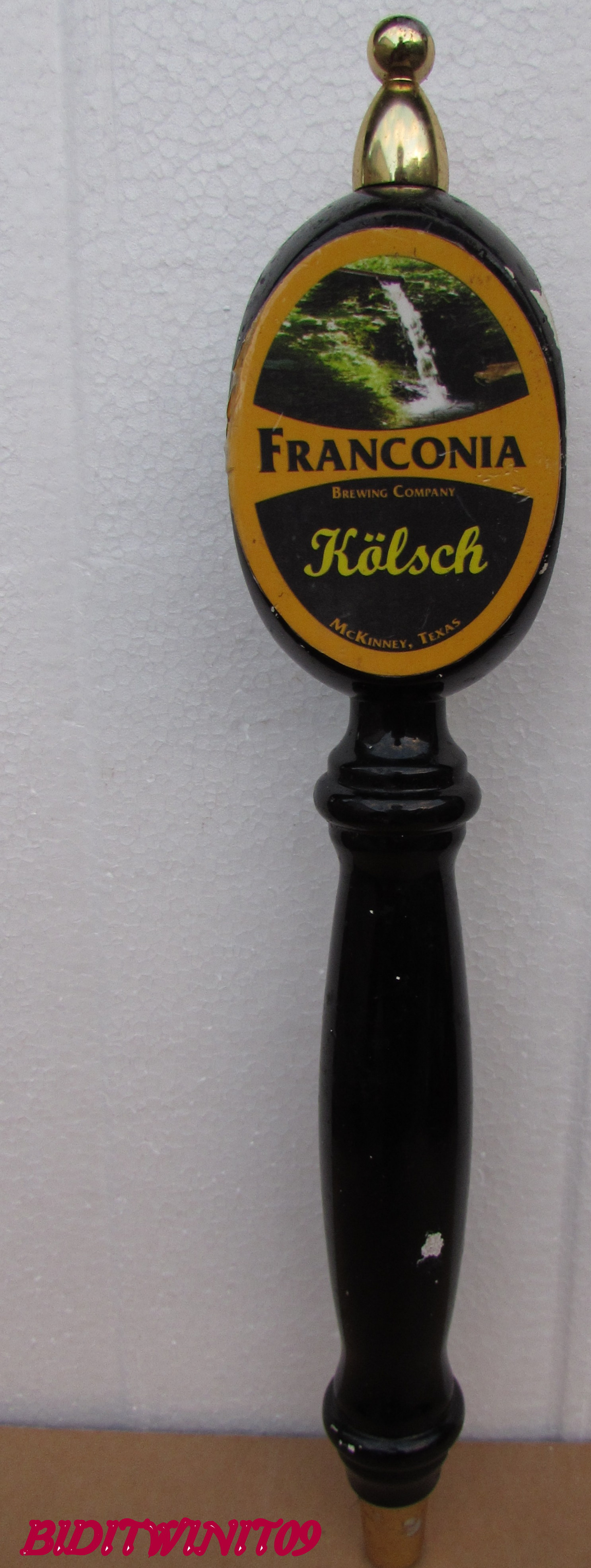BEER TAP HANDLE FRANCONIA KOLSCH E+