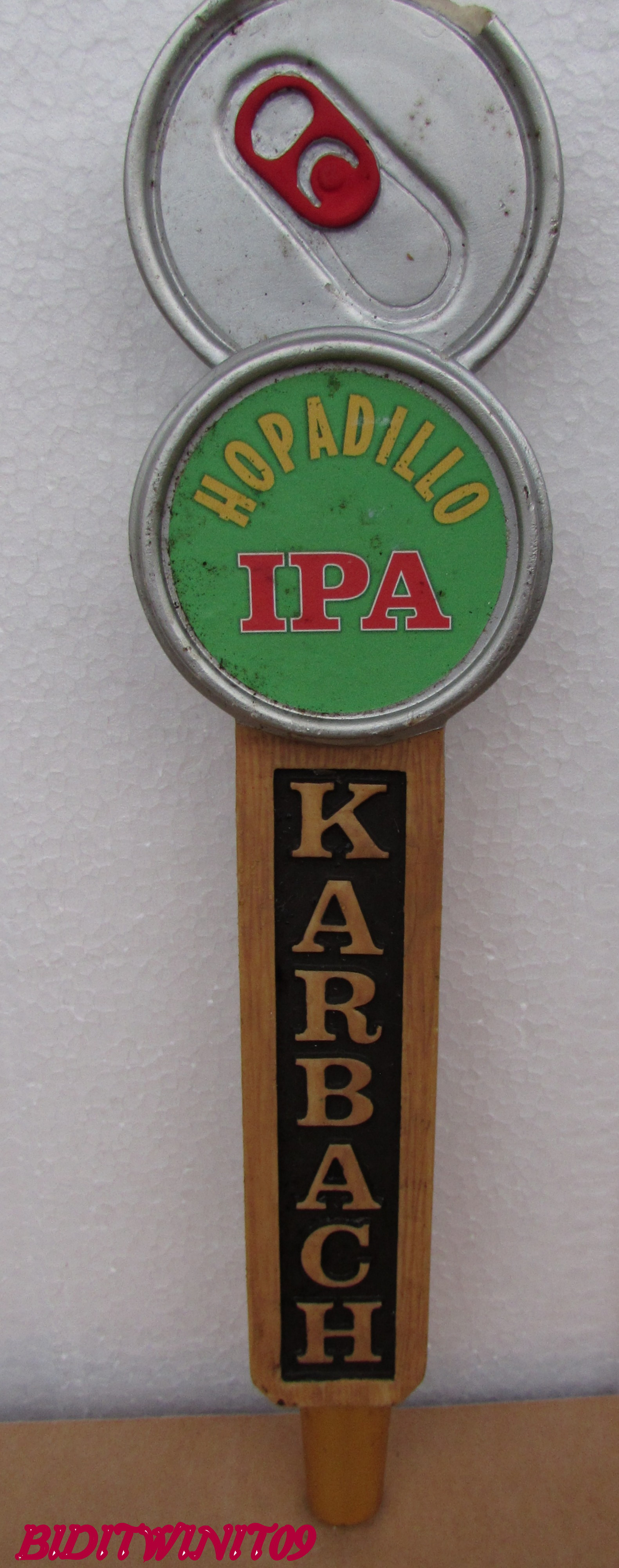 BEER TAP HANDLE KARBACH HOPADILLO IPA E+
