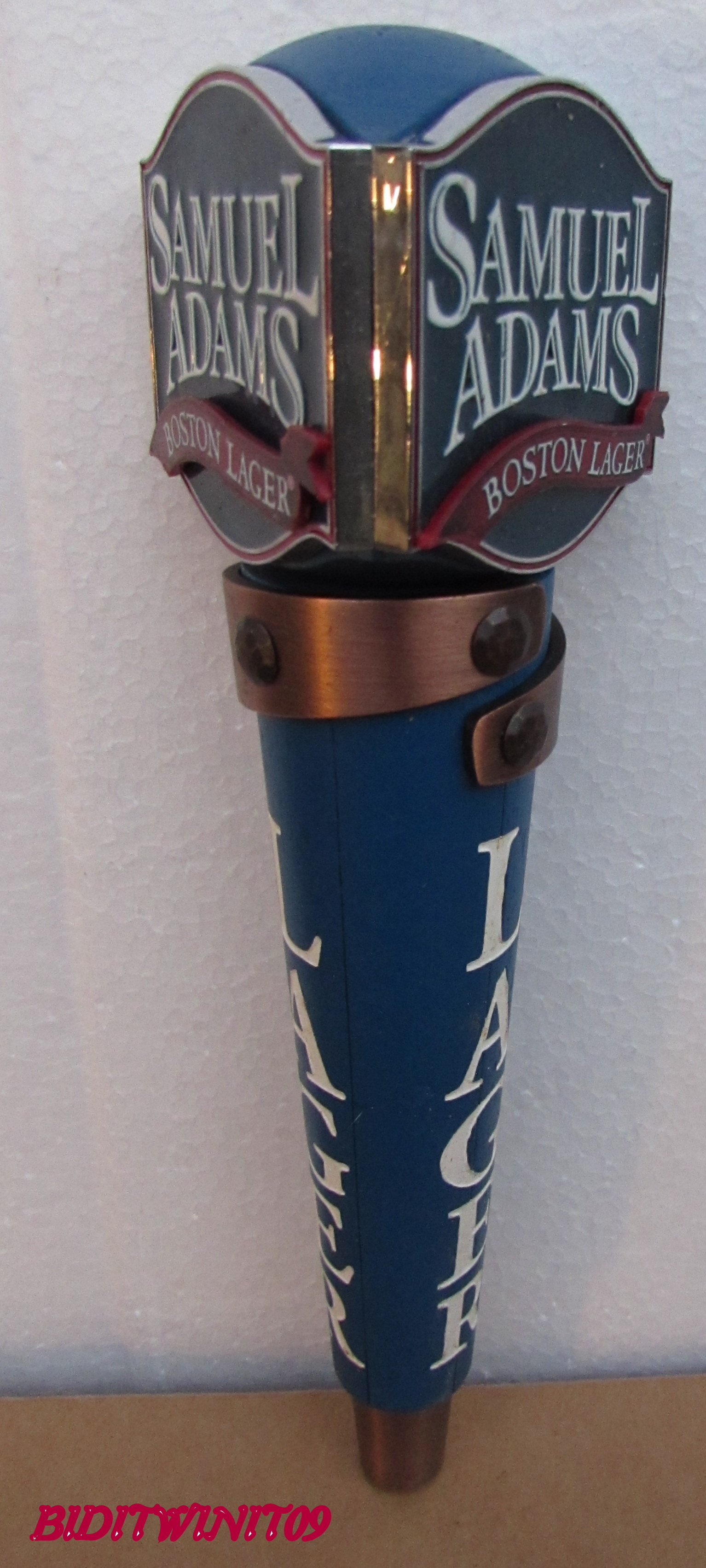 BEER TAP HANDLE SAMUEL ADAMS BOSTON LAGER E+