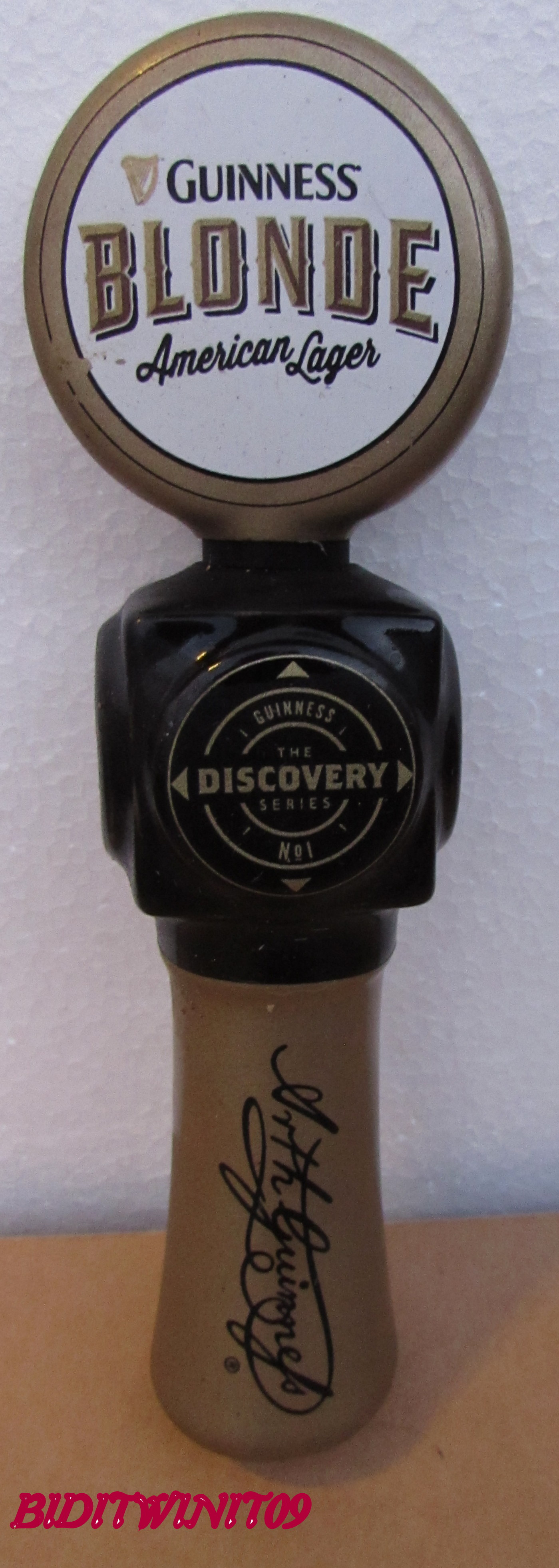 BEER TAP HANDLE GUINNESS BLONDE DISCOVERY E+