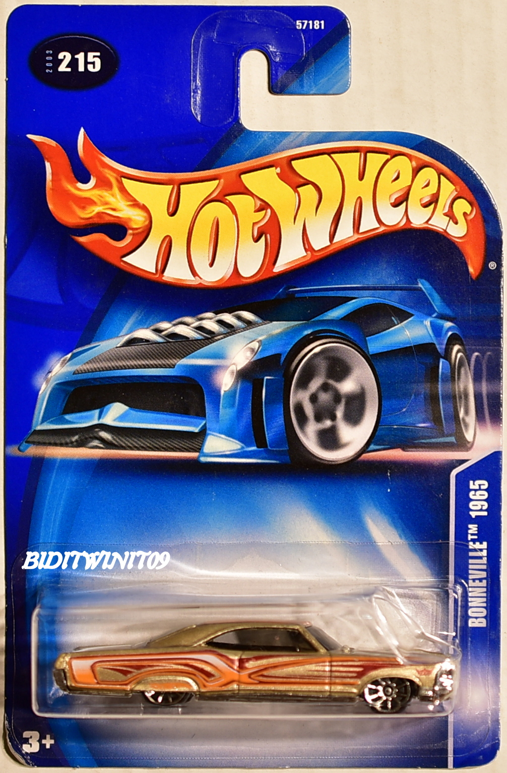 HOT WHEELS 2003 PONTIAC BONNEVILLE 1965 #215