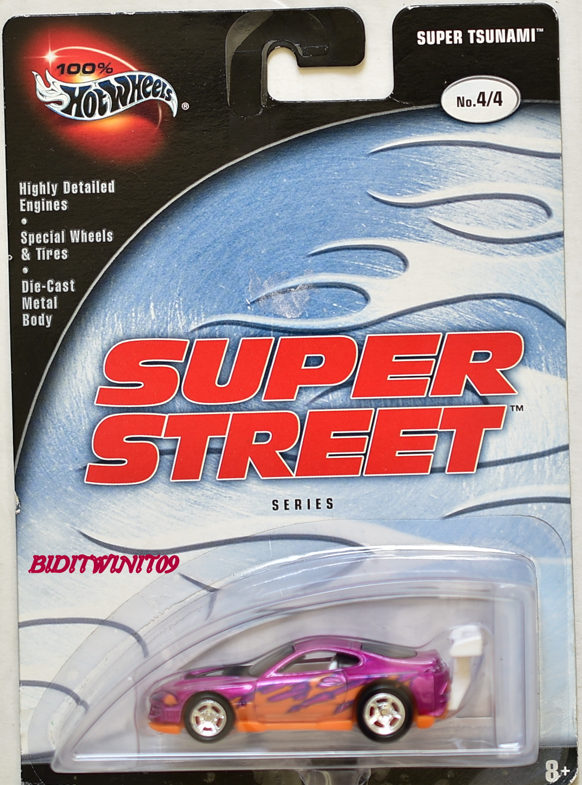 HOT WHEELS 100% SUPER STREET SERIES SUPER TSUNAMI #4/4 PURPLE E+
