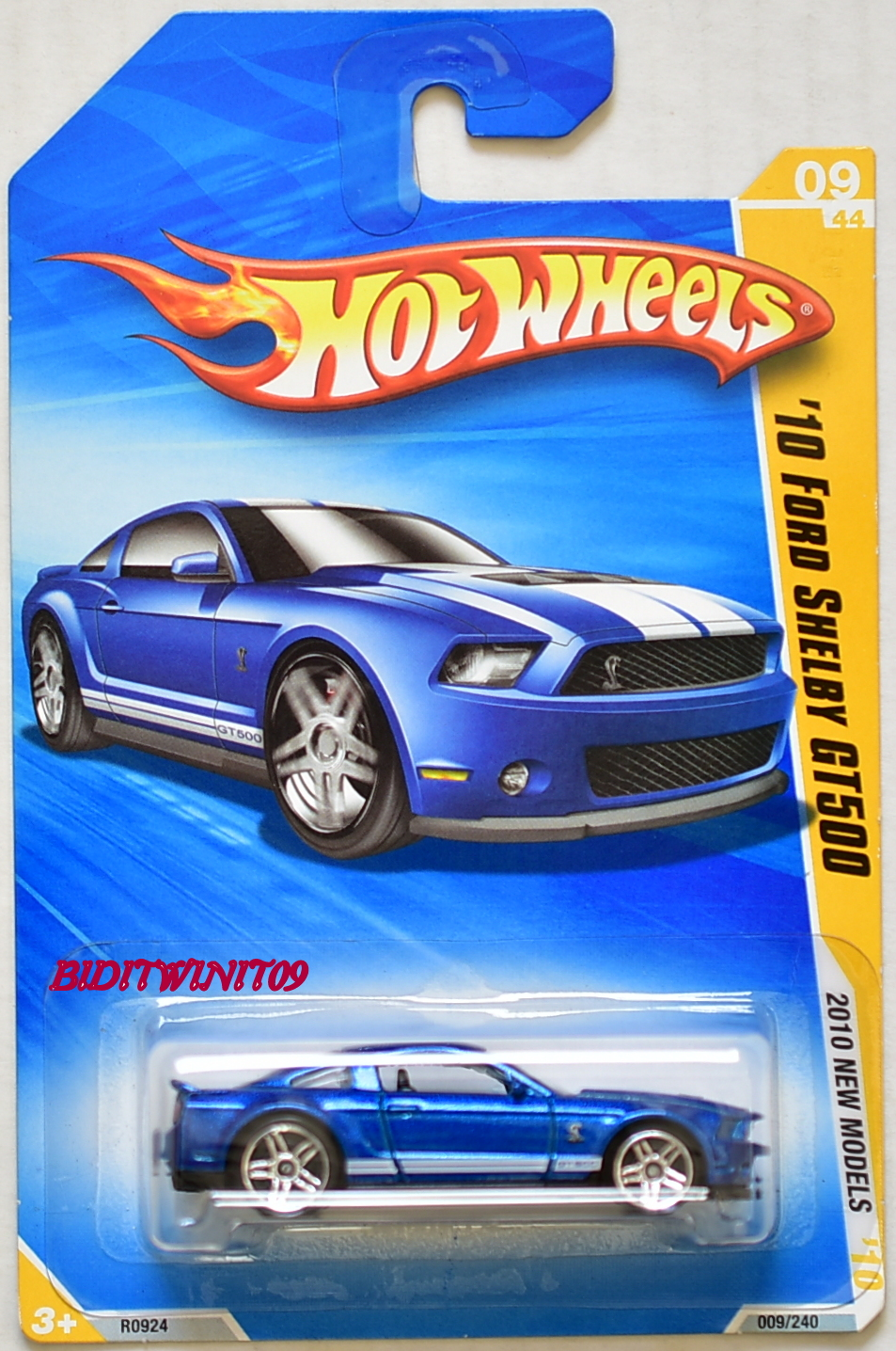 HOT WHEELS 2010 NEW MODELS '10 FORD SHELBY GT500 BLUE E+