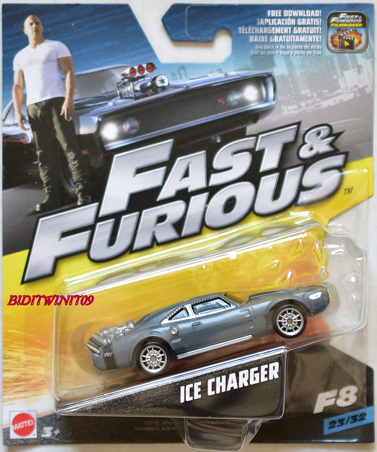 hot wheels 2017 fast furious 8 ice charger scale 1 55. Black Bedroom Furniture Sets. Home Design Ideas