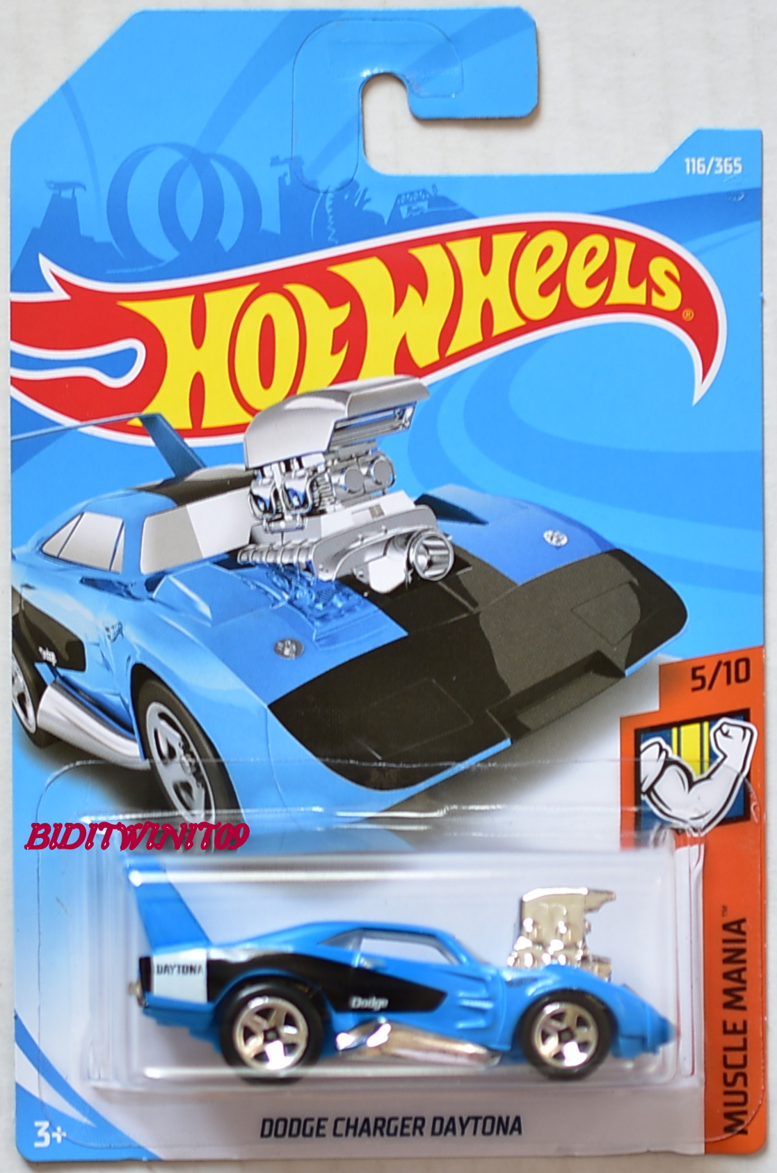 HOT WHEELS 2018 MUSCLE MANIA DODGE CHARGER DAYTONA BLUE