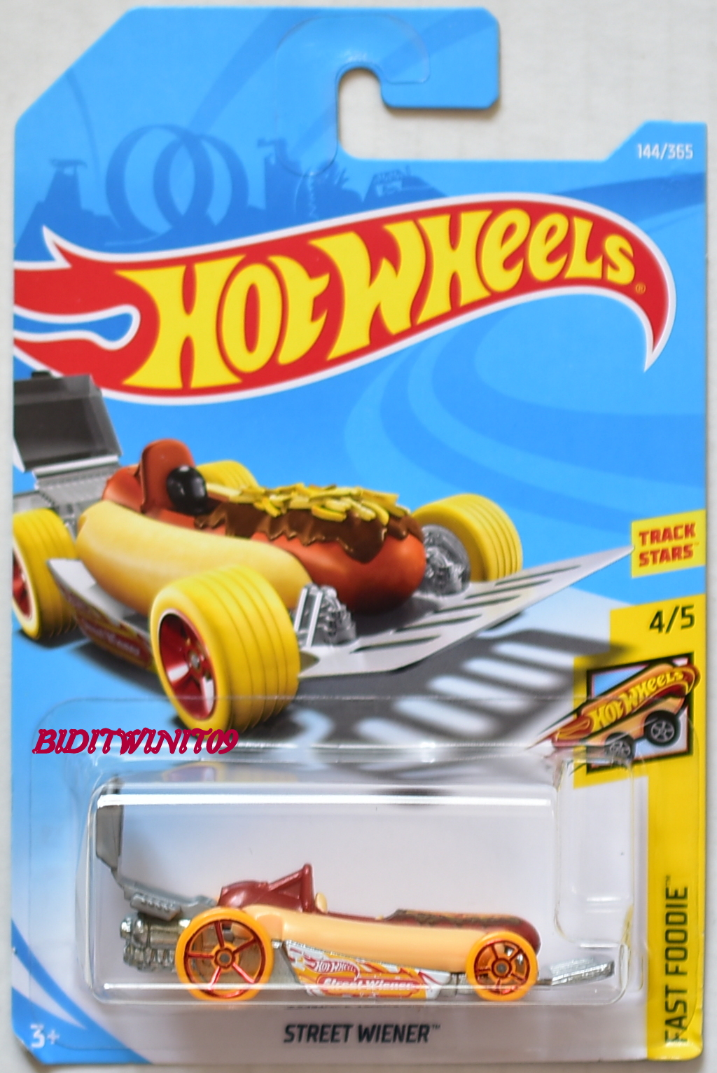 hot wheels 2018 fast foodie street wiener 4 5 0007956 classic. Black Bedroom Furniture Sets. Home Design Ideas
