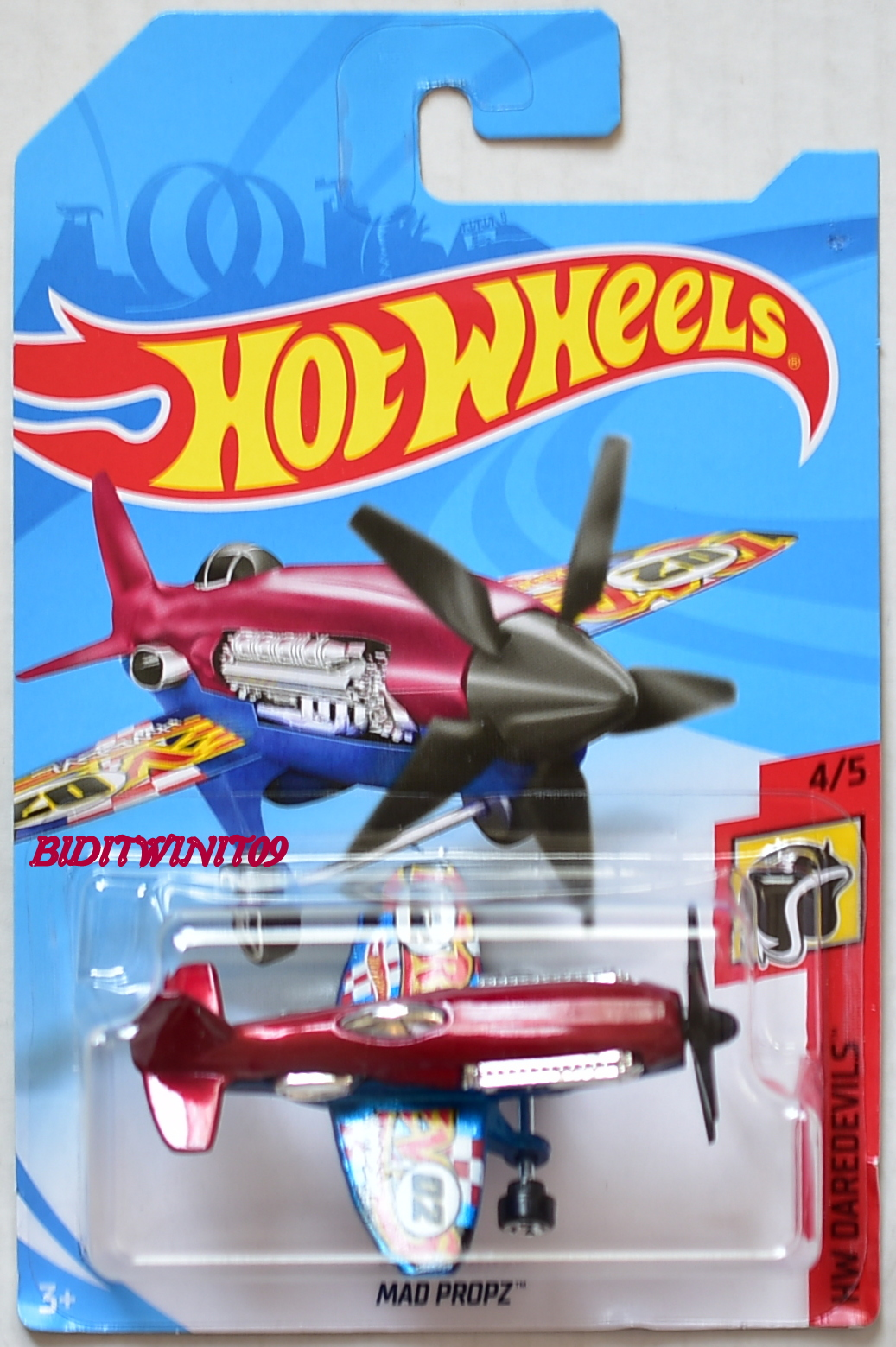 HOT WHEELS 2018 HW DAREDEVILS MAD PROPZ #4/5 RED