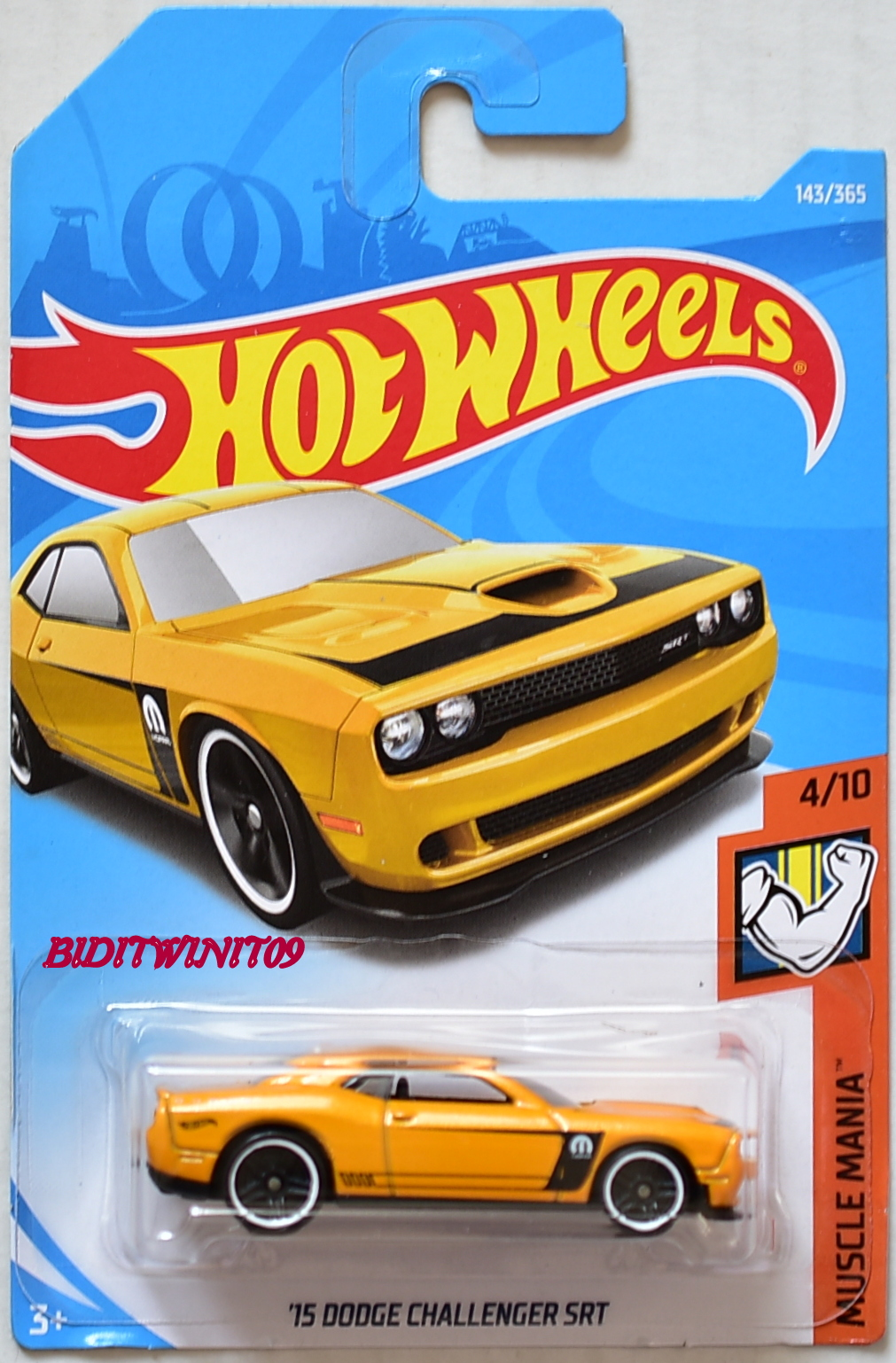 HOT WHEELS 2018 MUSCLE MANIA '15 DODGE CHALLENGER SRT #4/10 GOLD