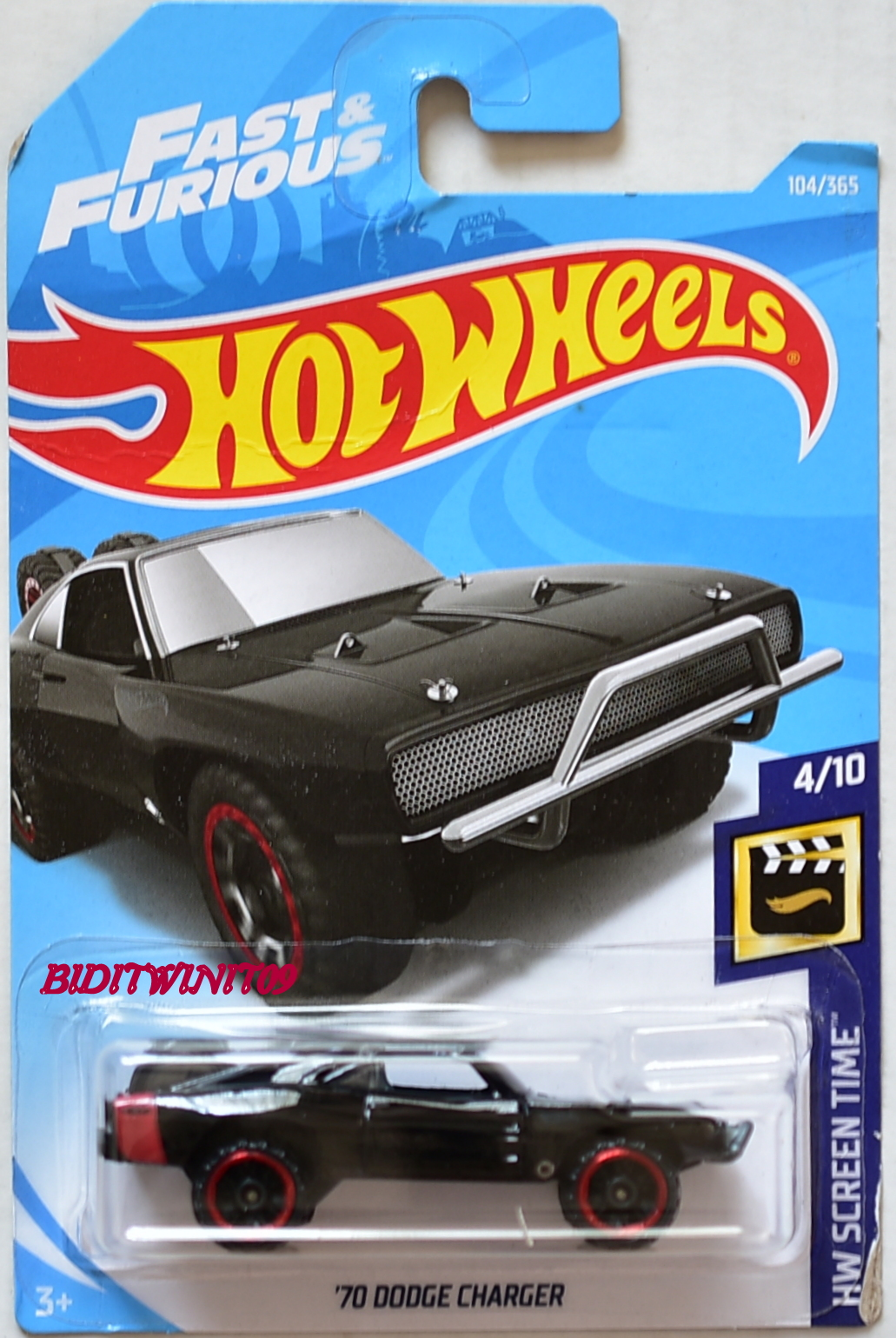 hot wheels 2018 hw screen time 39 70 dodge charger 4 10 0007962. Black Bedroom Furniture Sets. Home Design Ideas