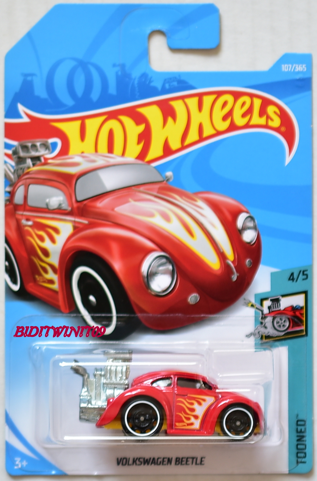 HOT WHEELS 2018 TOONED VOLKSWAGEN BEETLE #4/5 RED