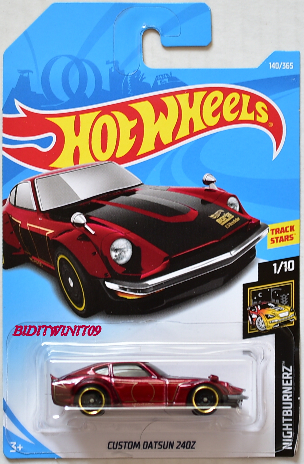 HOT WHEELS 2018 NIGHTBURNERZ CUSTOM DATSUN 240Z #1/10 RED