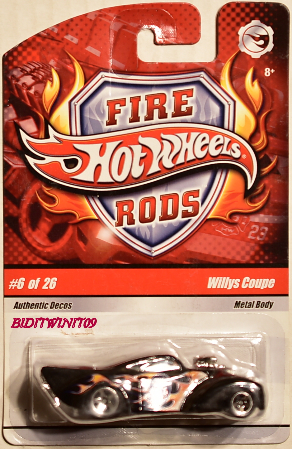 HOT WHEELS 2008 FIRE RODS WILLYS COUPE #6/26