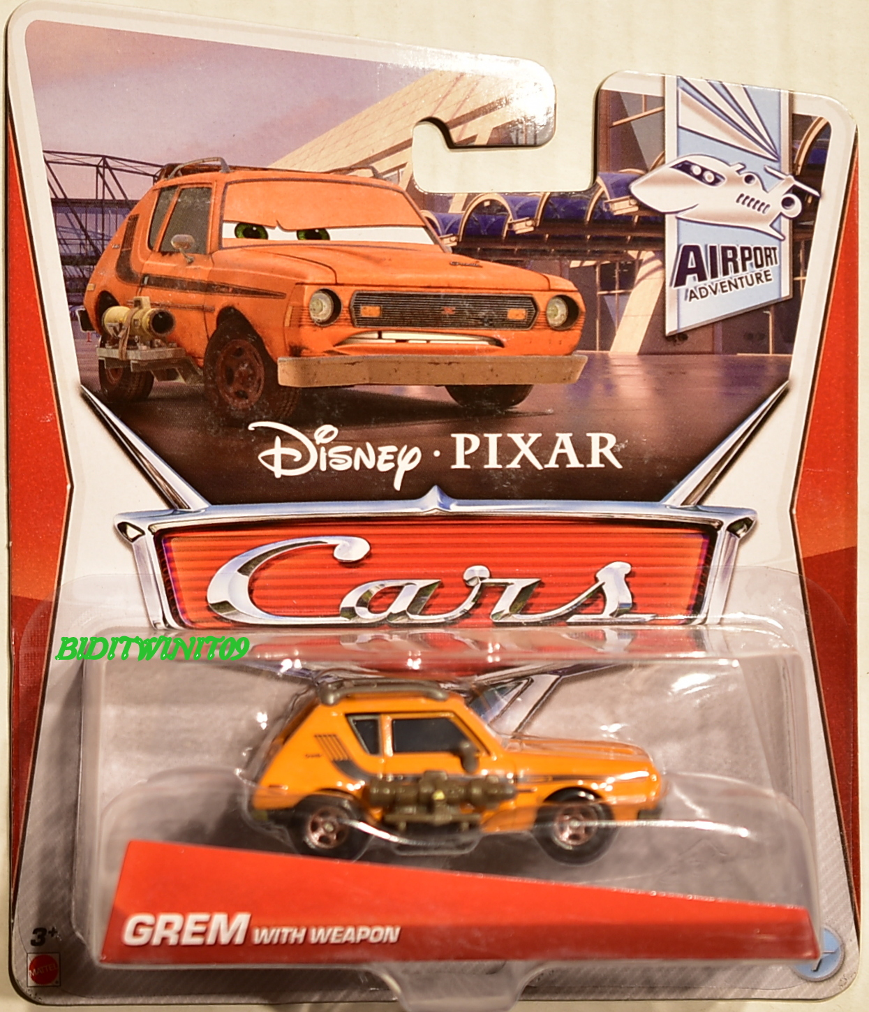 DISNEY PIXAR CARS - 2013 GREM WITH WEAPON - AIRPORT ADVENTURE