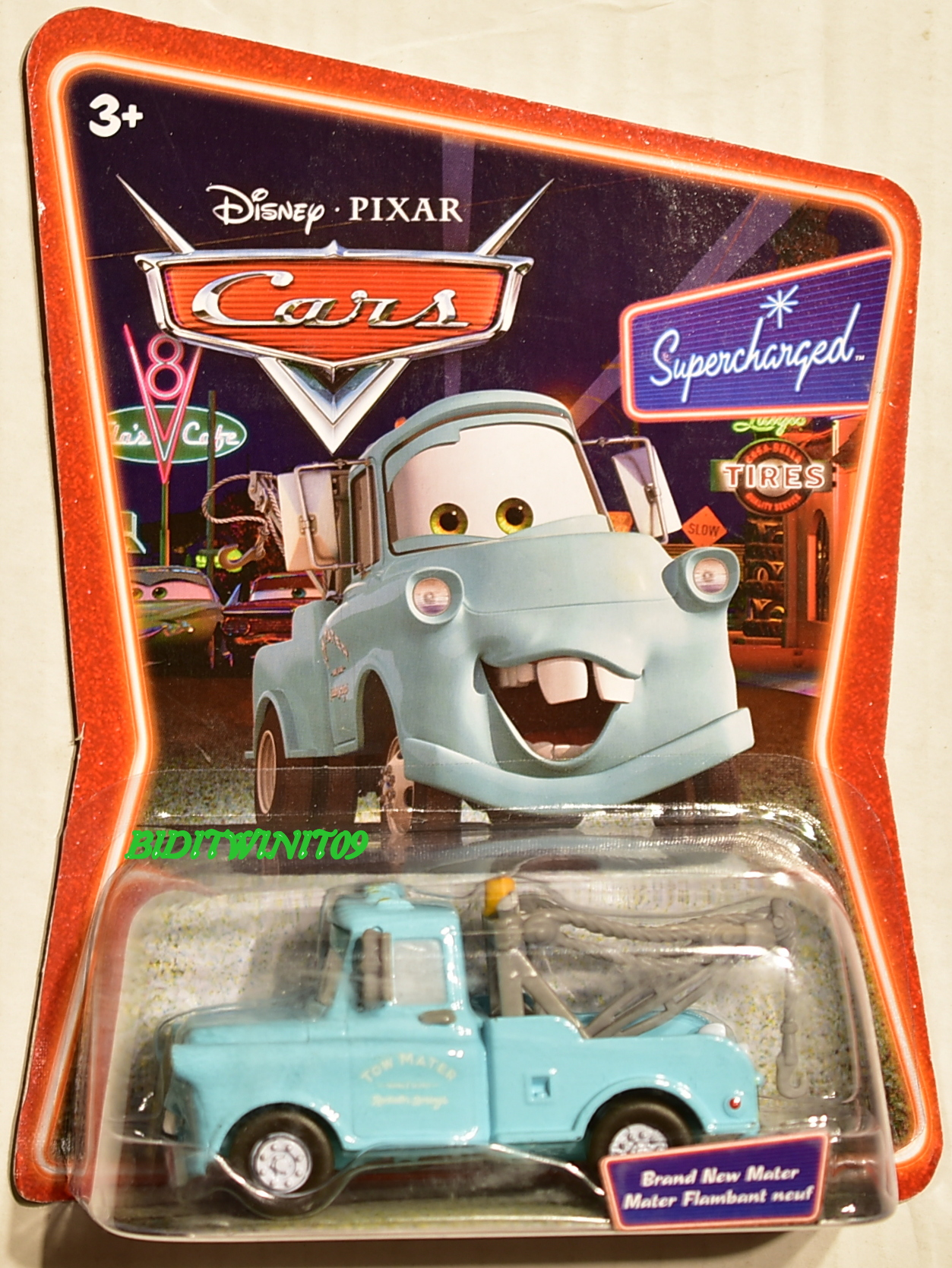 DISNEY PIXAR CARS SUPERCHARGED TIRES BRAND NEW MATER