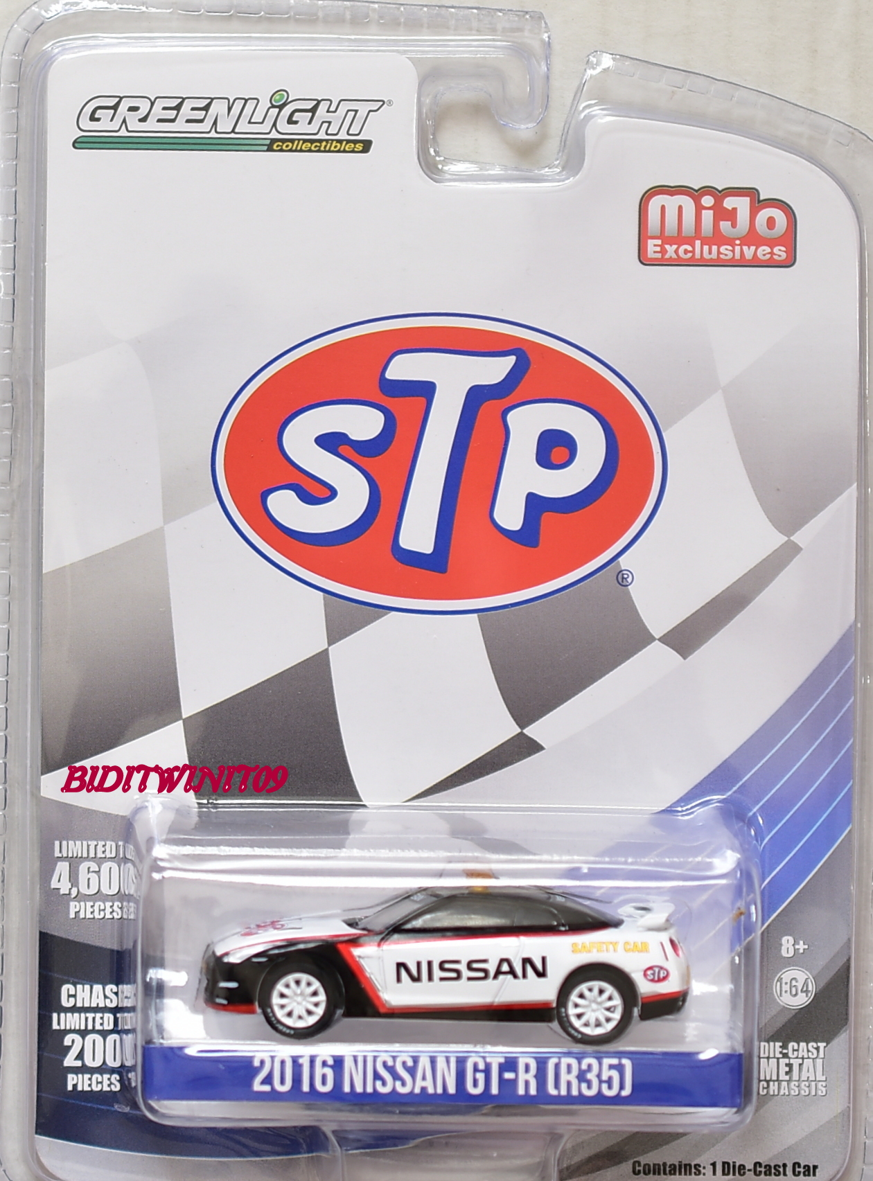 GREENLIGHT 2018 COLLECTIBLES MIJO EXCLUSIVE STP 2016 NISSAN GT-R (R35)