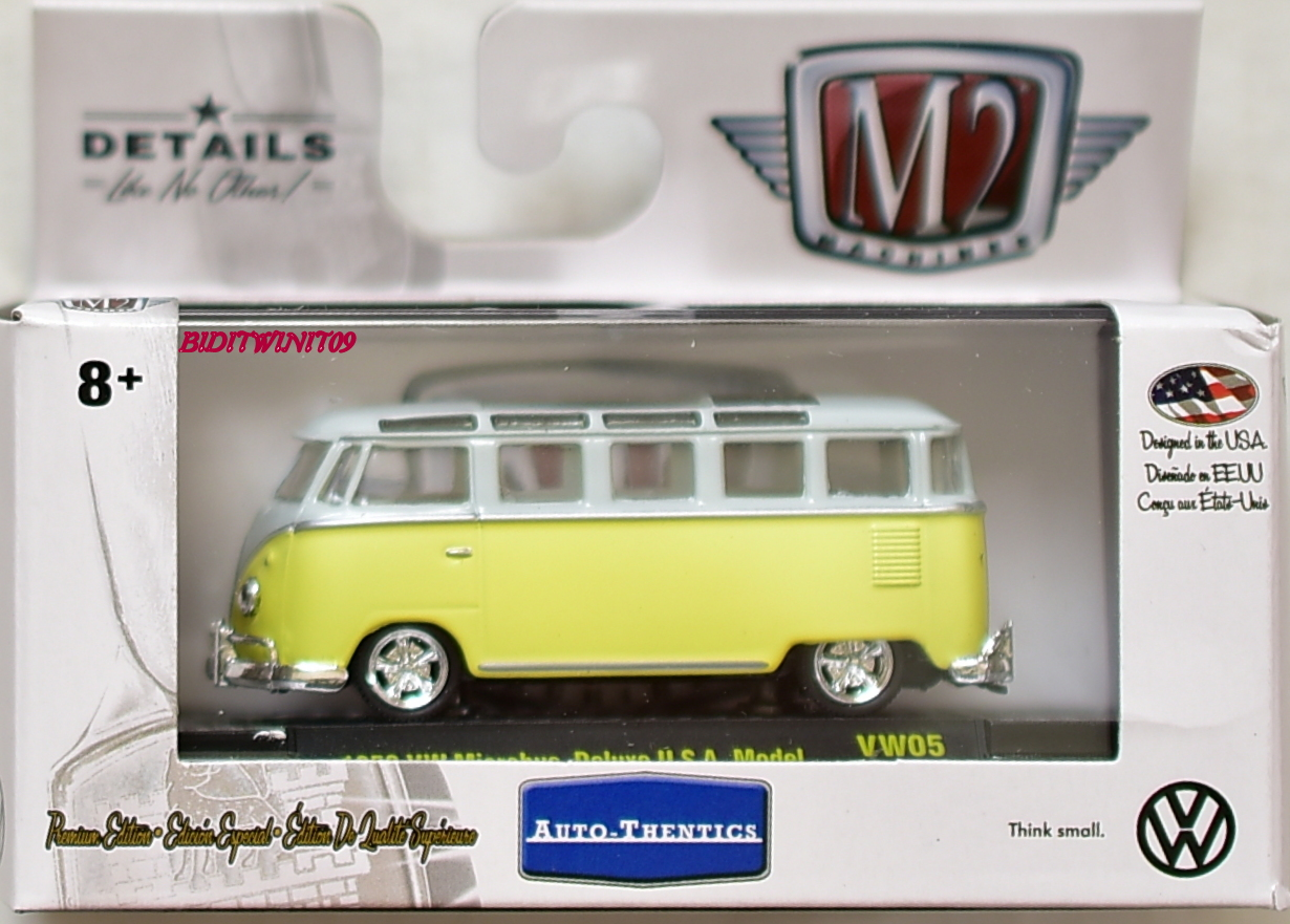 M2 MACHINE 2018 AUTO-THENTICS 1959 VW MICROBUS DELUSE U.S.A. MODEL VW05