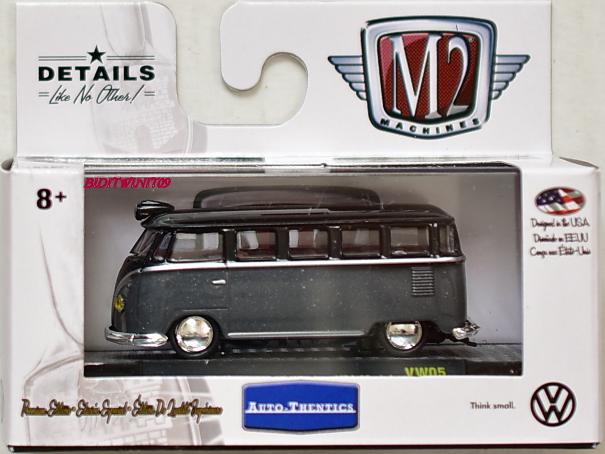 M2 MACHINE 2018 AUTO-THENTICS 1958 VW MICROBUS 15 WINDOW USA MODEL VW05