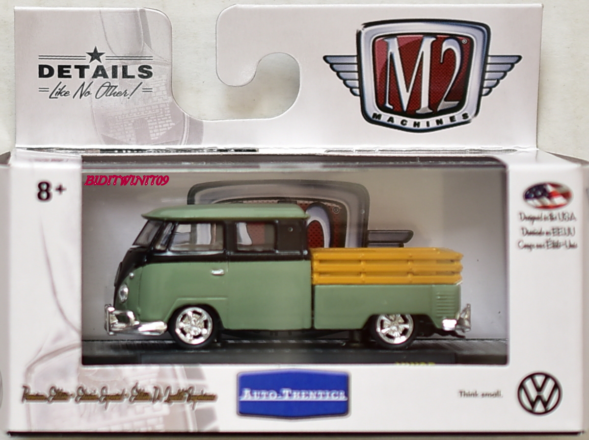 M2 MACHINE 2018 AUTO-THENTICS 1961 VW DOUBLE CAB TRUCK USA MODEL VW05