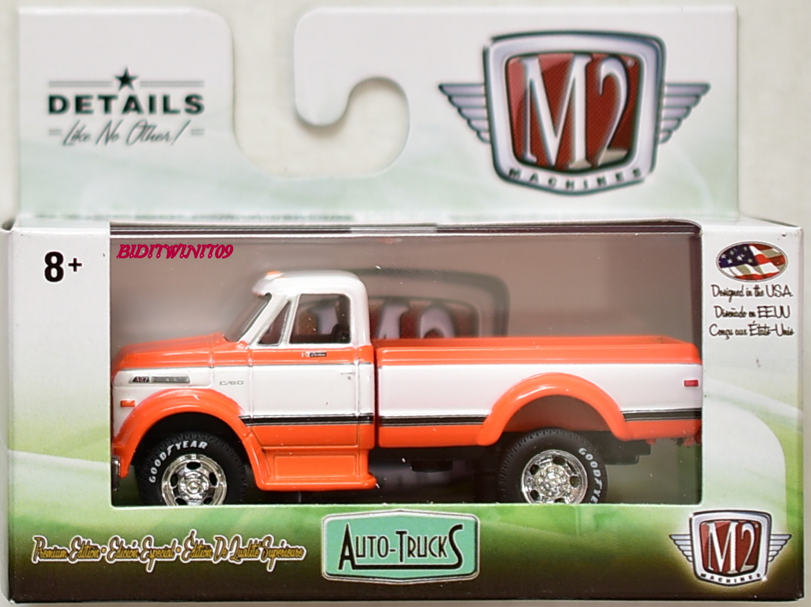 M2 MACHINE 2018 AUTO-TRUCKS 1970 CHEVROLET C60 TRUCK R46 ORANGE