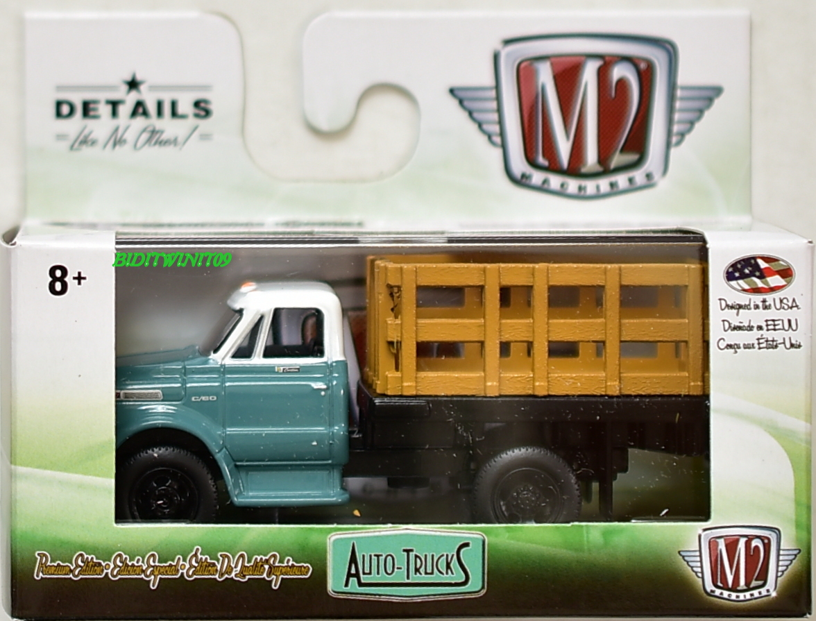 M2 MACHINE 2018 AUTO-TRUCKS 1966 DODGE L600 STAKE BED TRUCK R46