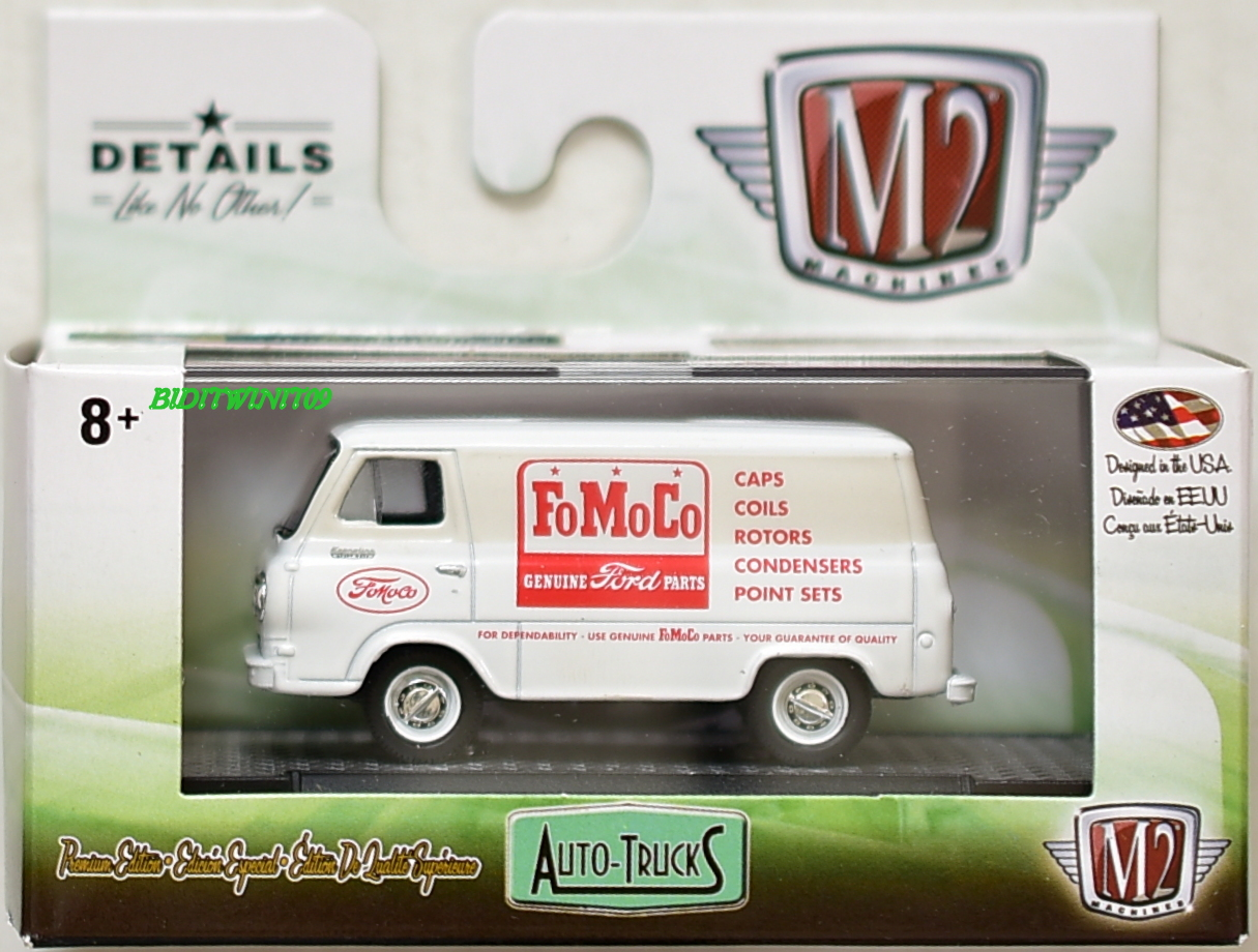 M2 MACHINE 2018 AUTO-TRUCKS 1965 FORD ECONOLINE DISPLAY VAN R46