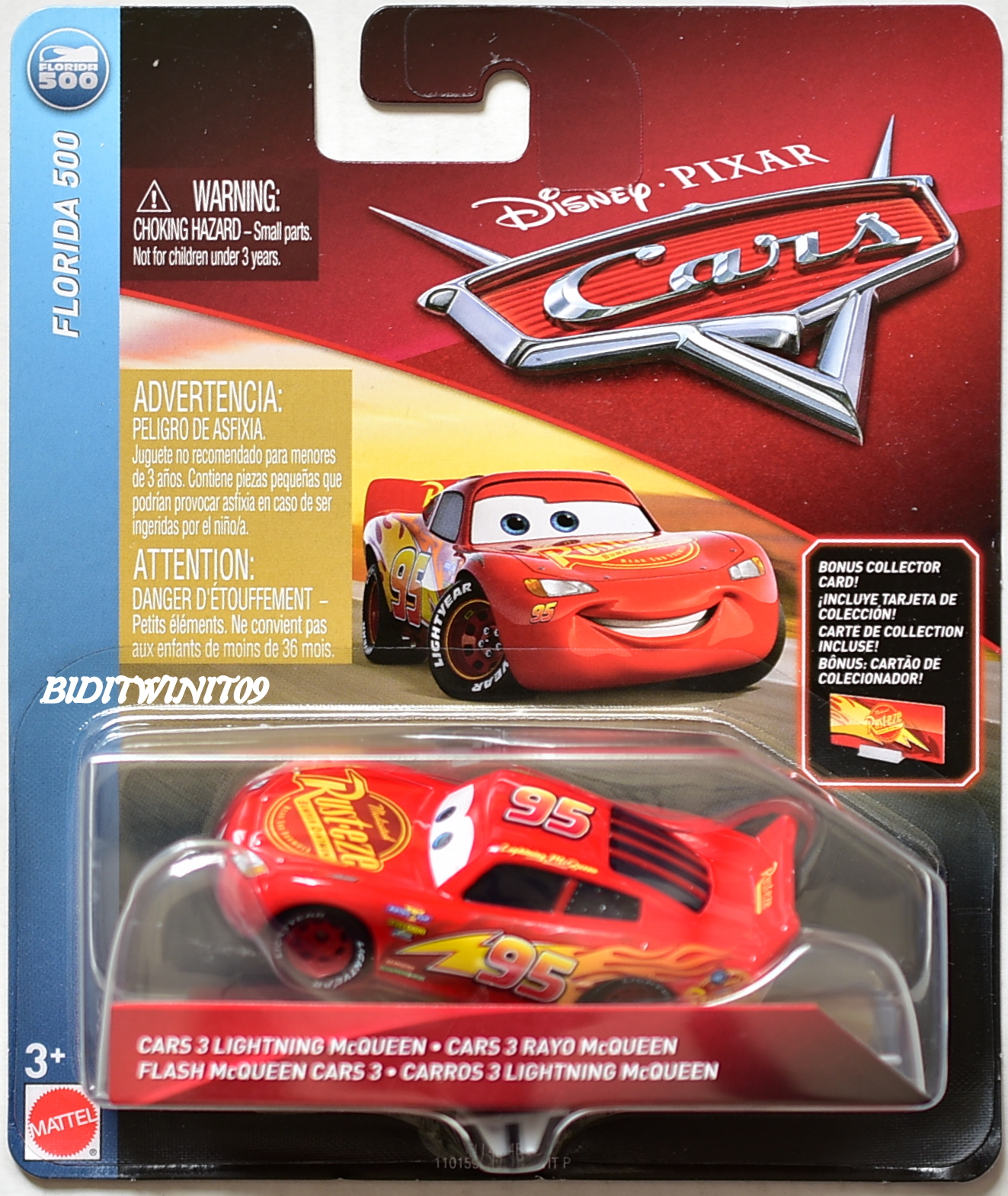 DISNEY PIXAR CARS 2018 FLORIDA 500 RAYO MCQUEEN FLASH