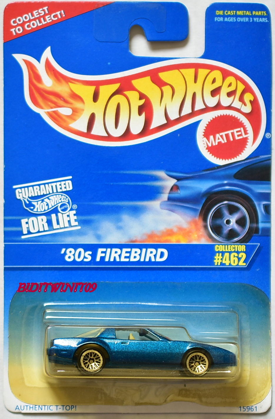 HOT WHEELS 1996 '80s FIREBIRD COLL.#462 BLUE