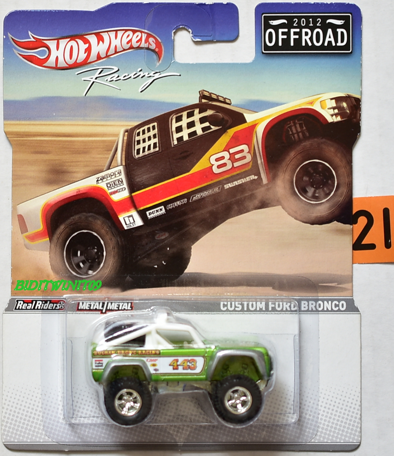 HOT WHEELS RACING 2012 OFFROAD CUSTOM FORD BRONCO