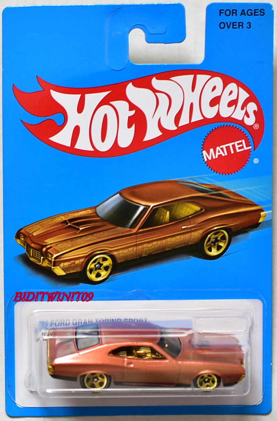 HOT WHEELS 2017 TARGET EXCLUSIVE '72 FORD GRAN TORINO SPORT