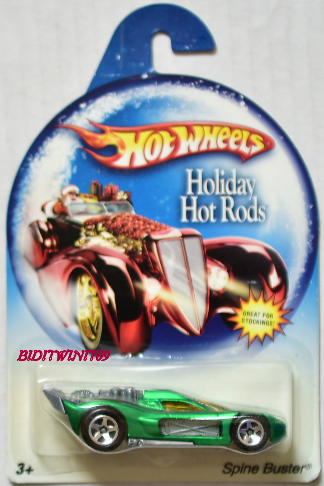 HOT WHEELS HOLIDAY HOT RODS SPINE BUSTER GREEN E+