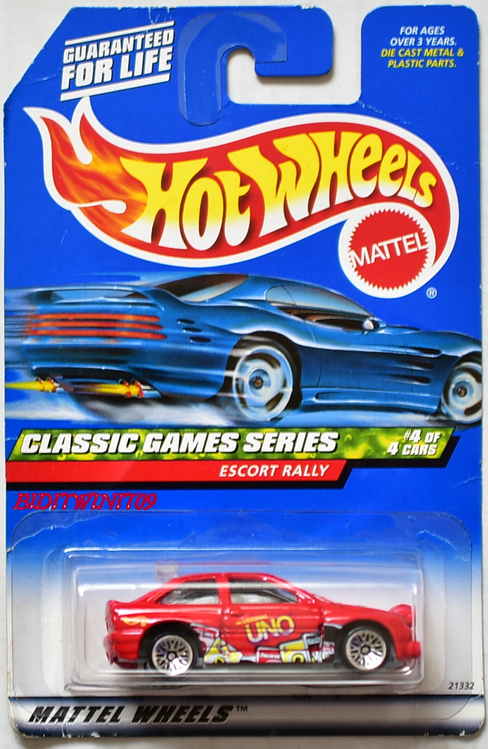 HOT WHEELS CLASSIC GAMES SERIES ESCORT RALLY #4/4 RED