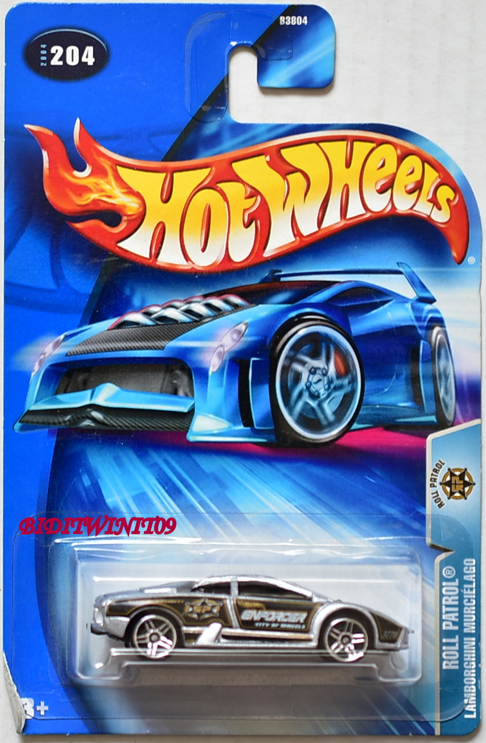 HOT WHEELS 2004 ROLL PATROL LAMBORGHINI MURCIELAGO #204