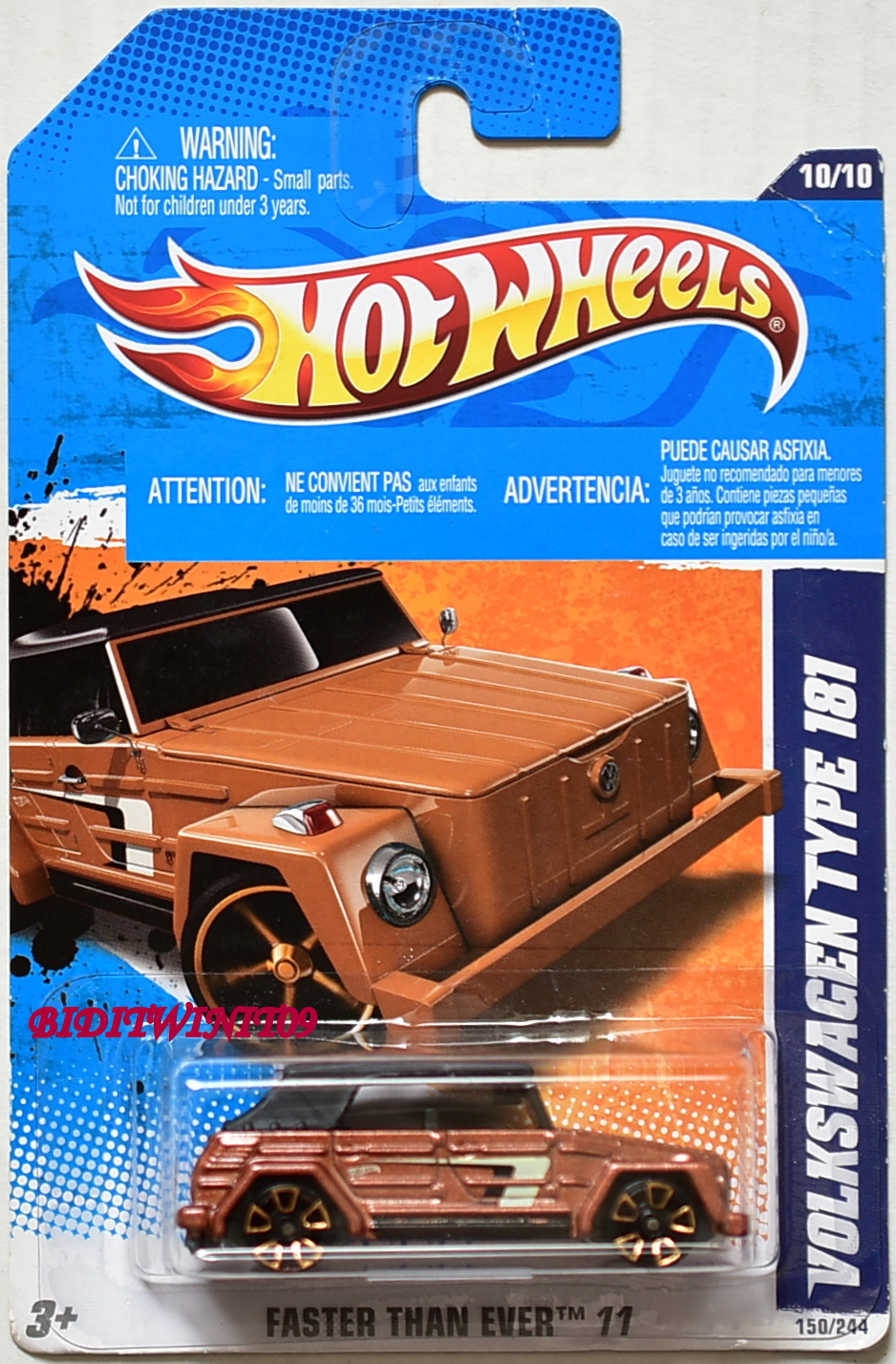 HOT WHEELS 2011 FASTER THAN EVER VOLKSWAGEN TYPE 181 #10/10