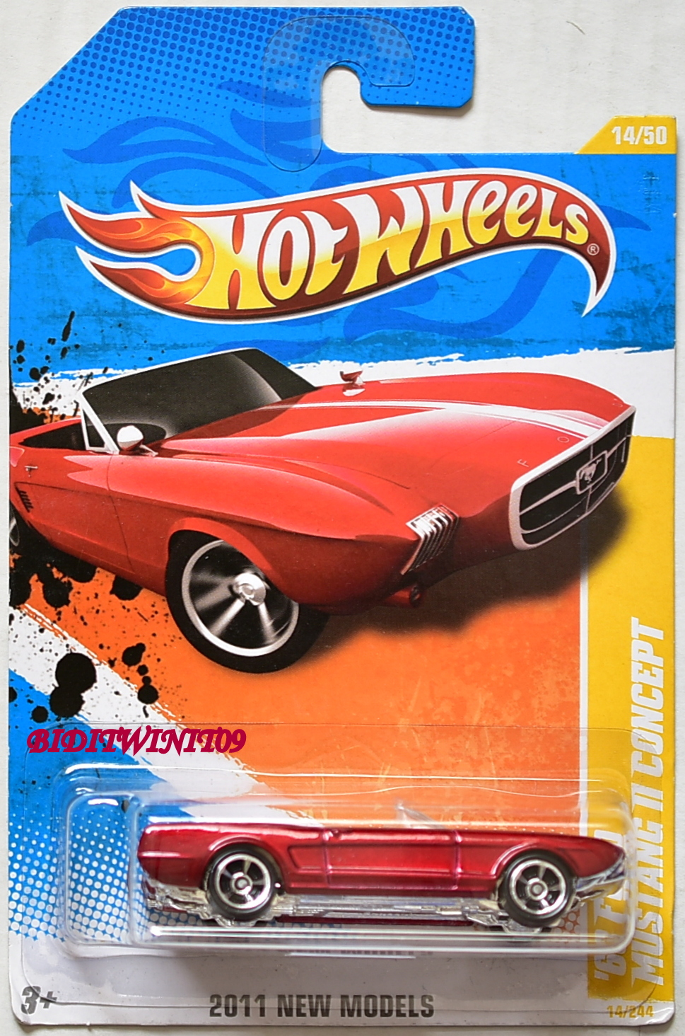 HOT WHEELS 2011 NEW MODELS '63 FORD MUSTANG II CONCEPT RED E+