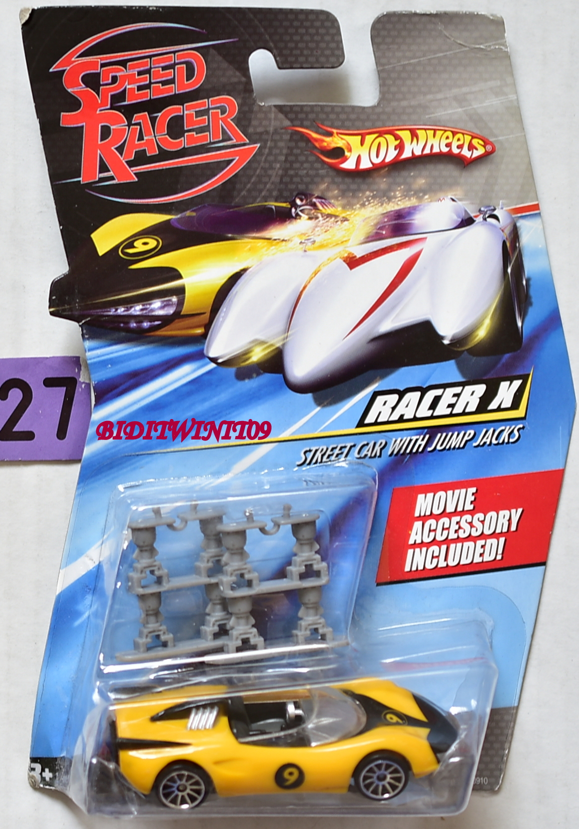 HOT WHEELS SPEED RACER RACER X STREET CAR WITH JUMP JACKS