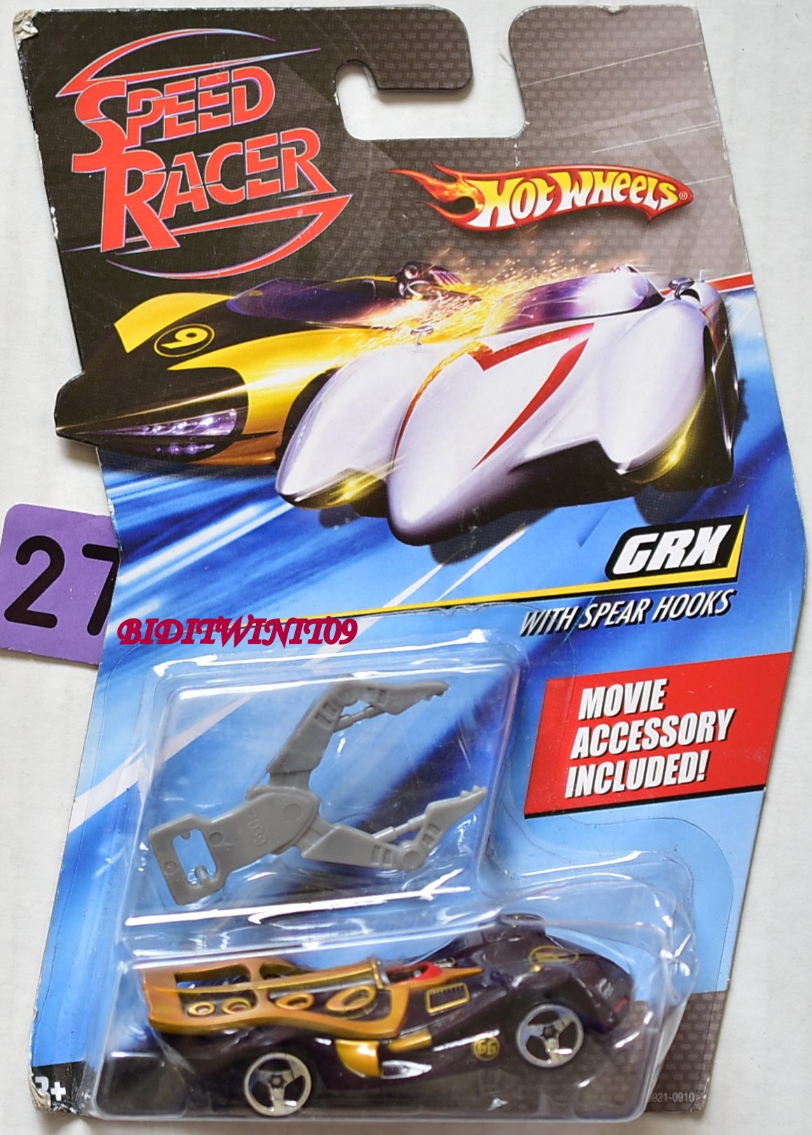 HOT WHEELS SPEED RACER GRX WITH SPEAR HOOKS E+