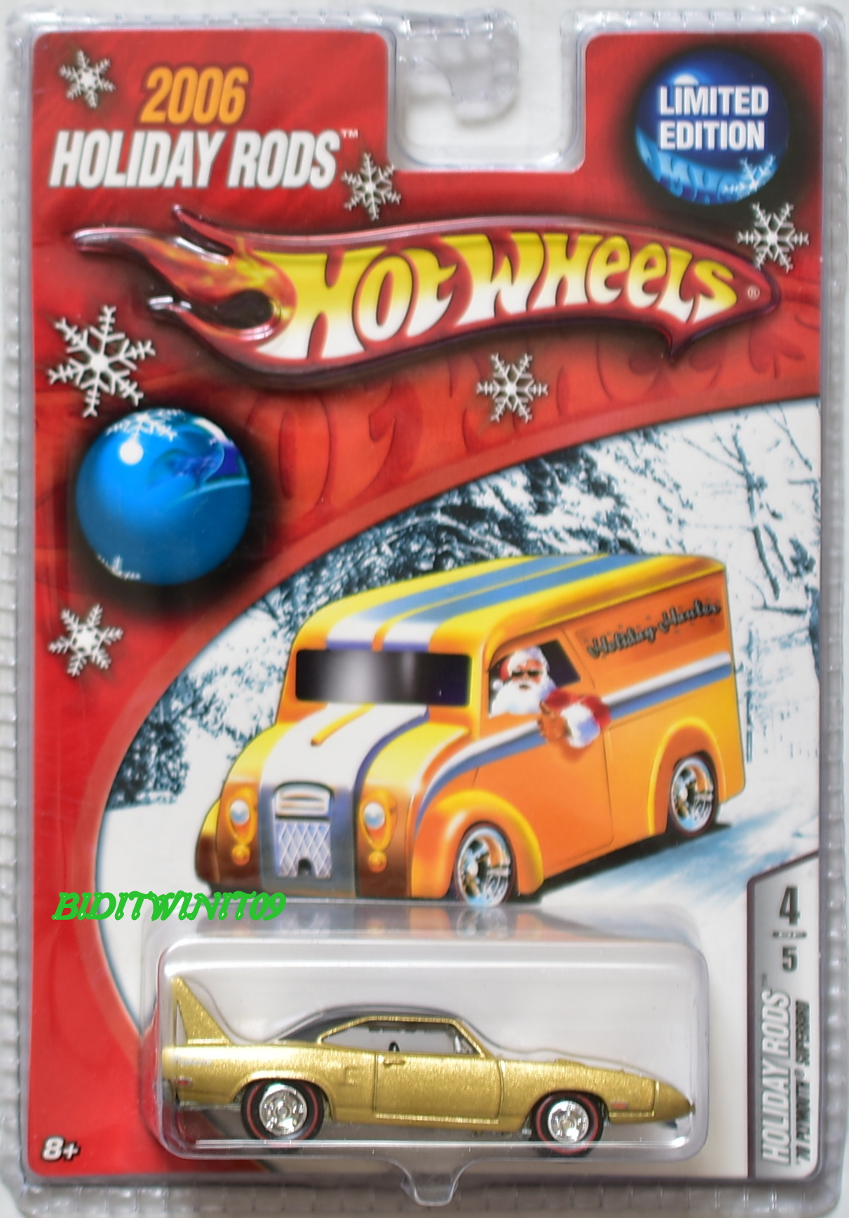 HOT WHEELS 2006 HOLIDAY RODS LIMITED EDITION '70 PLYMOUTH SUPERBIRD E+