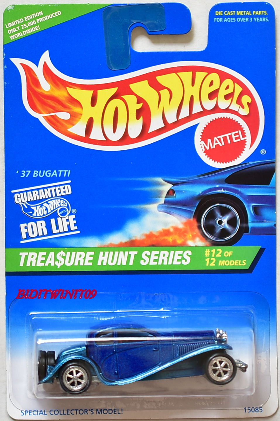 HOT WHEELS 1996 TREASURE HUNT SERIES '37 BUGATTI E+
